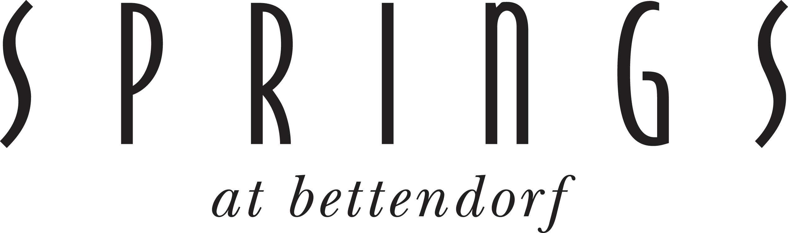Black Bettendorf Logo