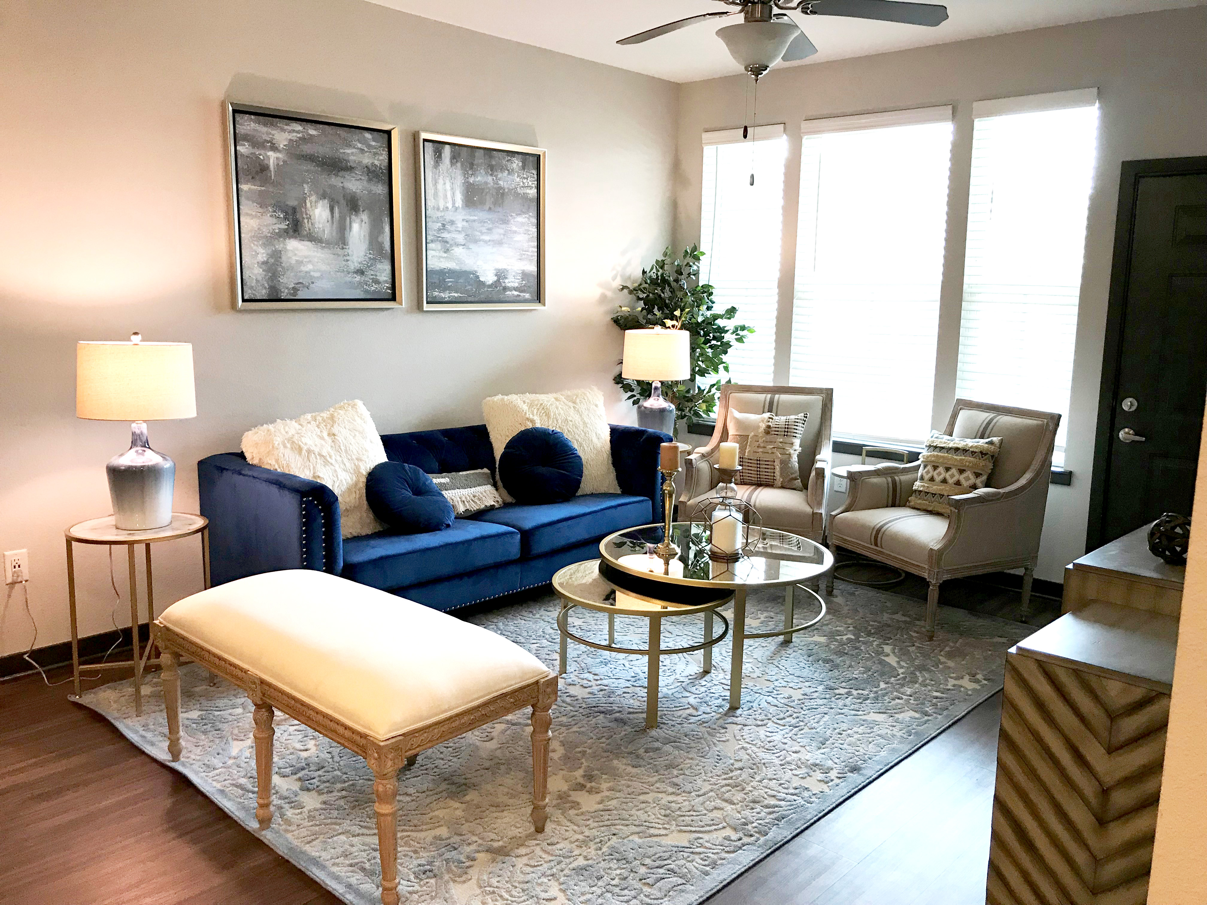 Springs at Forest Hill open concept living room