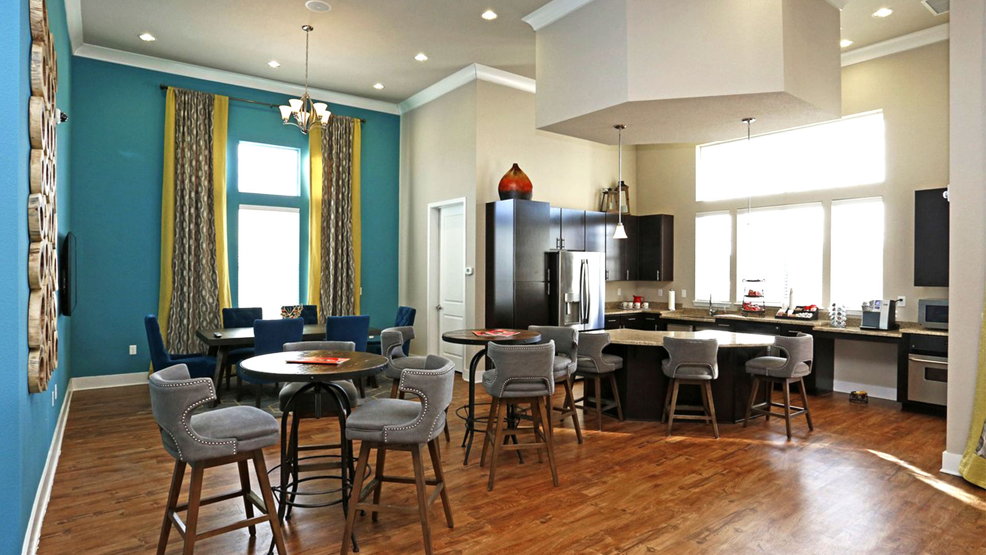 Clubhouse Interior with Kitchenette at Springs at South Broadway