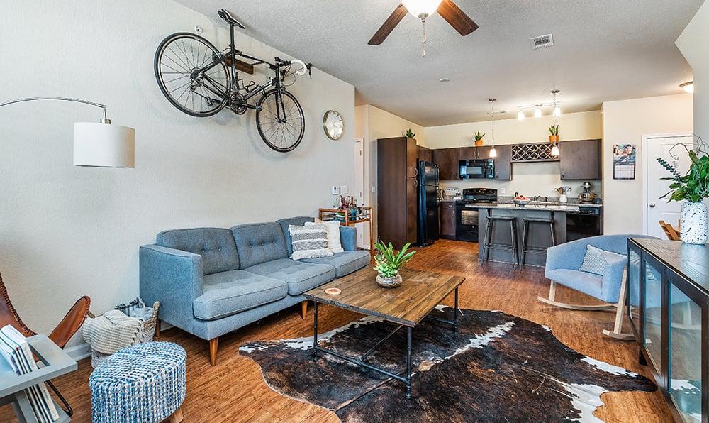 Spacious Apartment Interior at Springs at Alamo Ranch