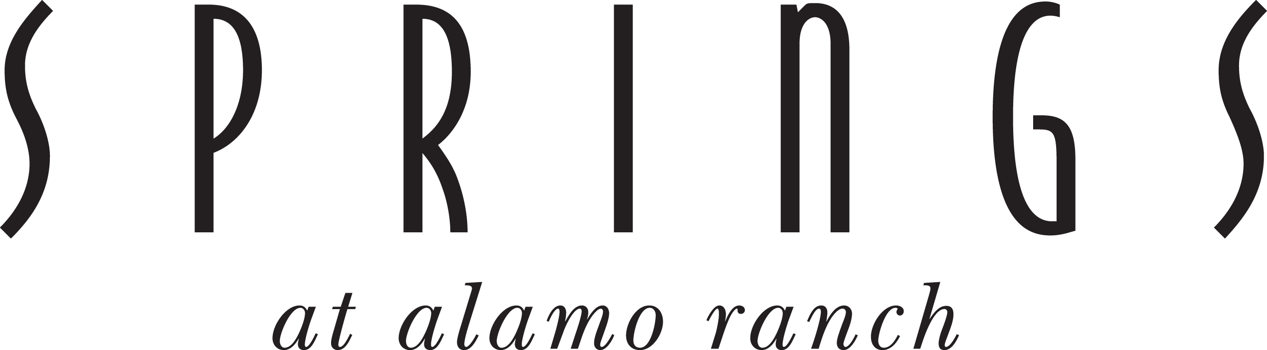 Alamo Ranch Black Word Logo