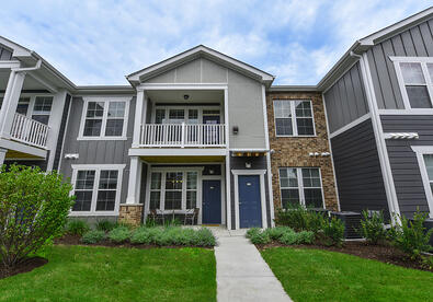 Townhome style exterior