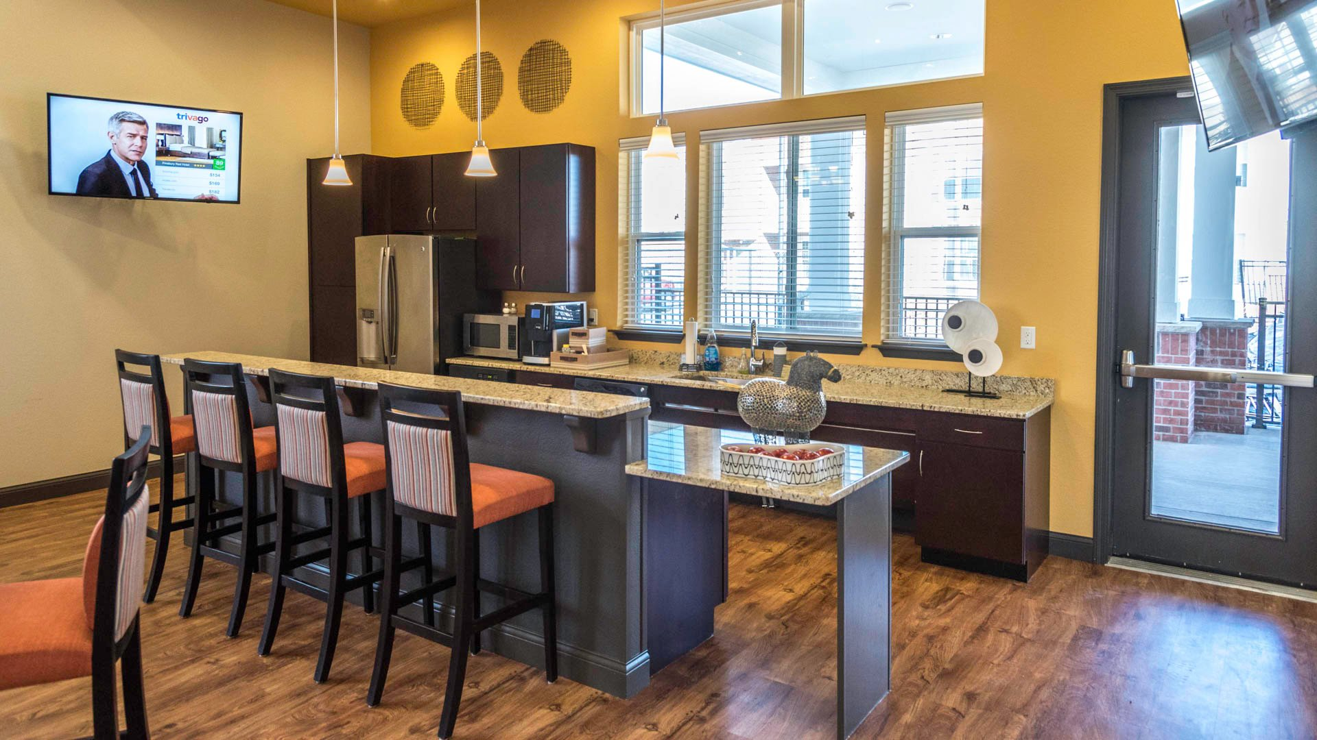 Springs at Apple Valley clubhouse kitchen