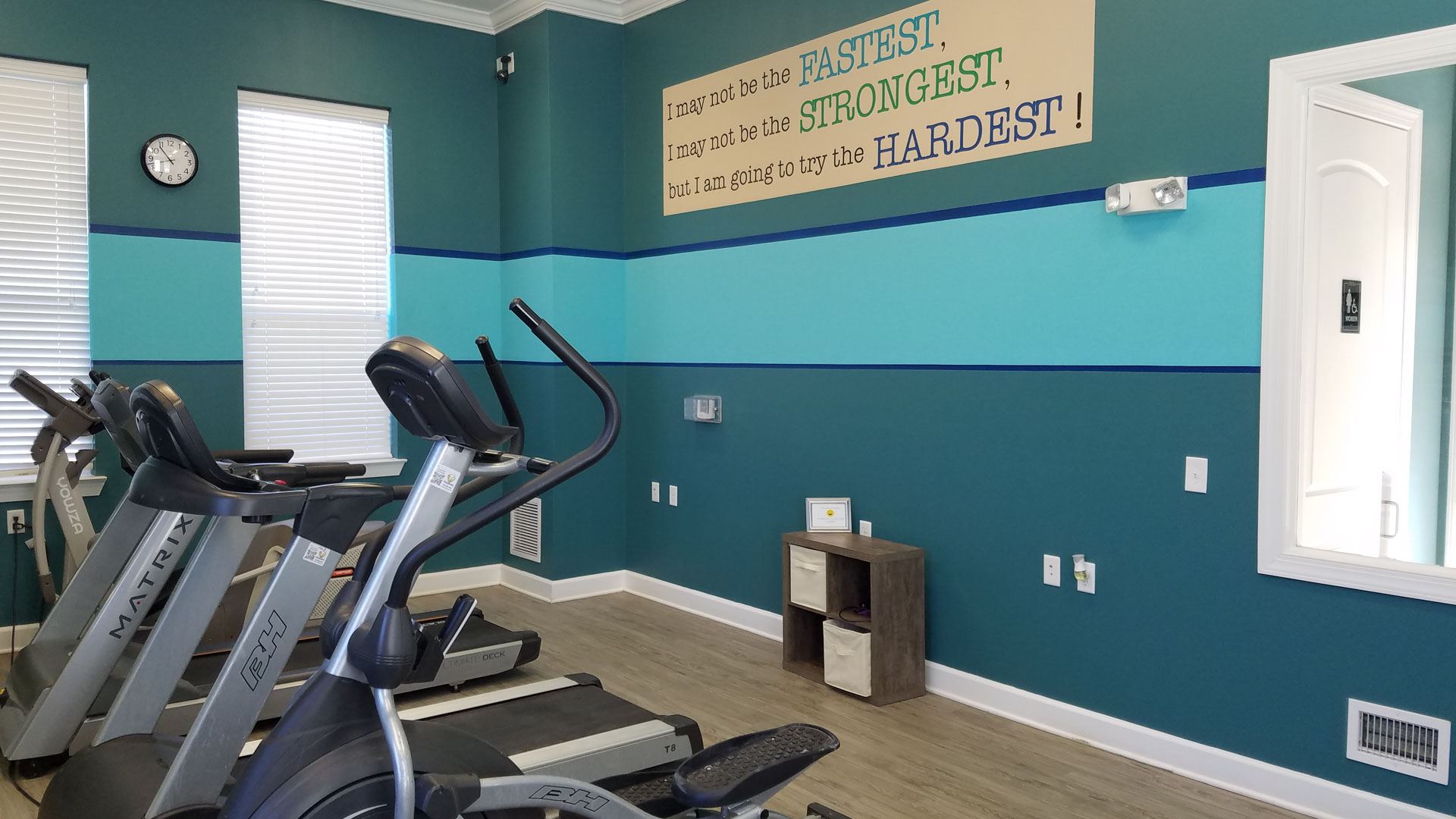Treadmills in the gym at Springs at Bettendorf Apartments in Quad Cities