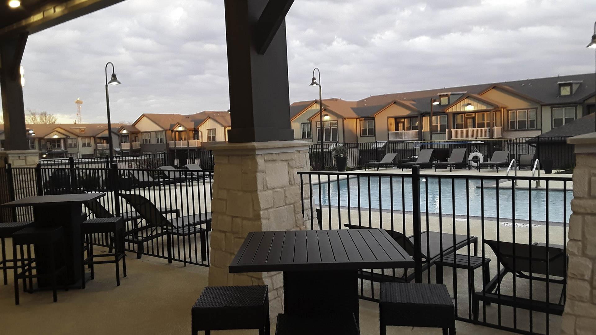 Springs at Cottonwood Creek pool seating area