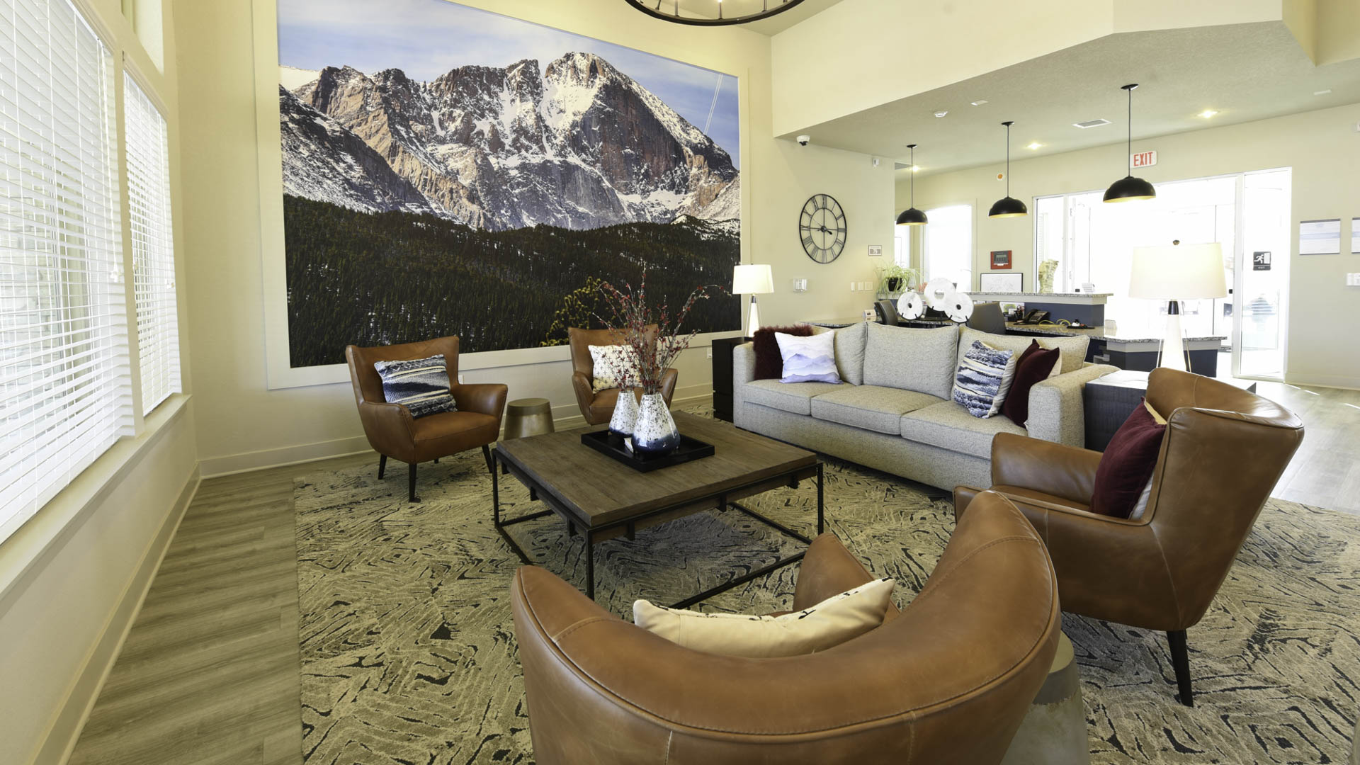 Springs at Eagle Bend clubhouse interior seating area