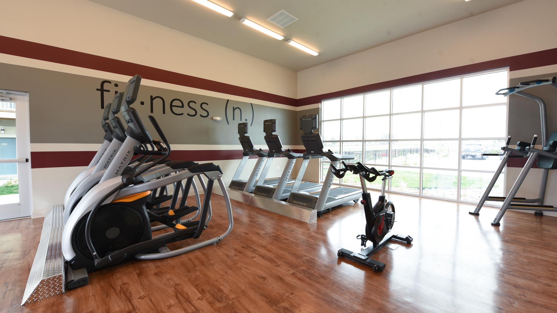 Gym with Treadmills and Bikes at Springs at Foothill Farms in Colorado Springs-22