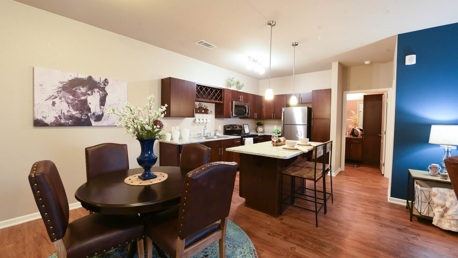 Kitchen and Dining Room at Springs at Foothill Farms in Colorado Springs