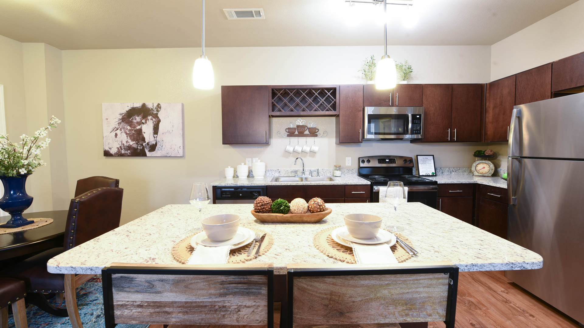 Granite Kitchen Island at Springs at Foothill Farms in Colorado Springs-5