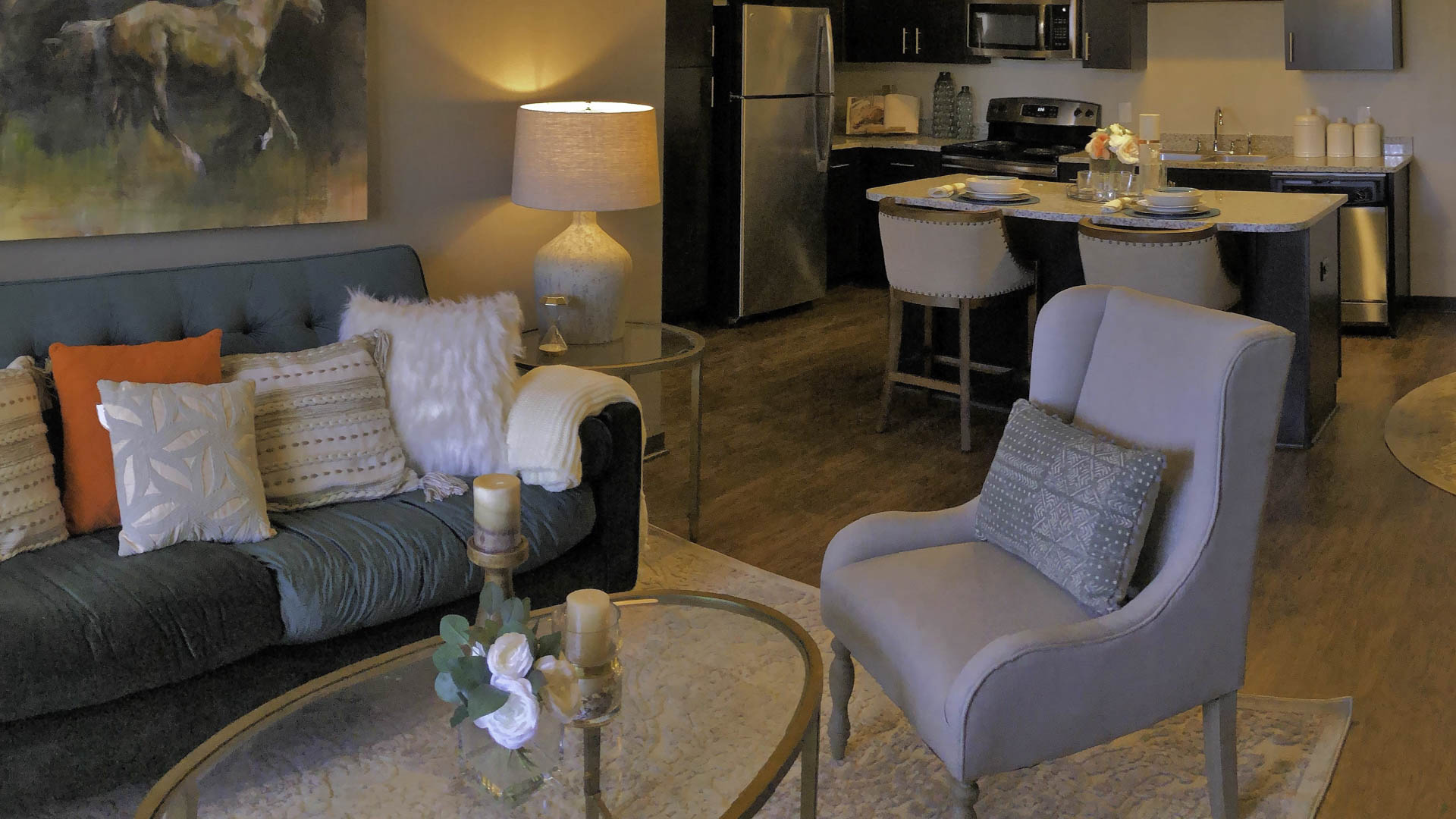 Springs at Hamburg open concept living area