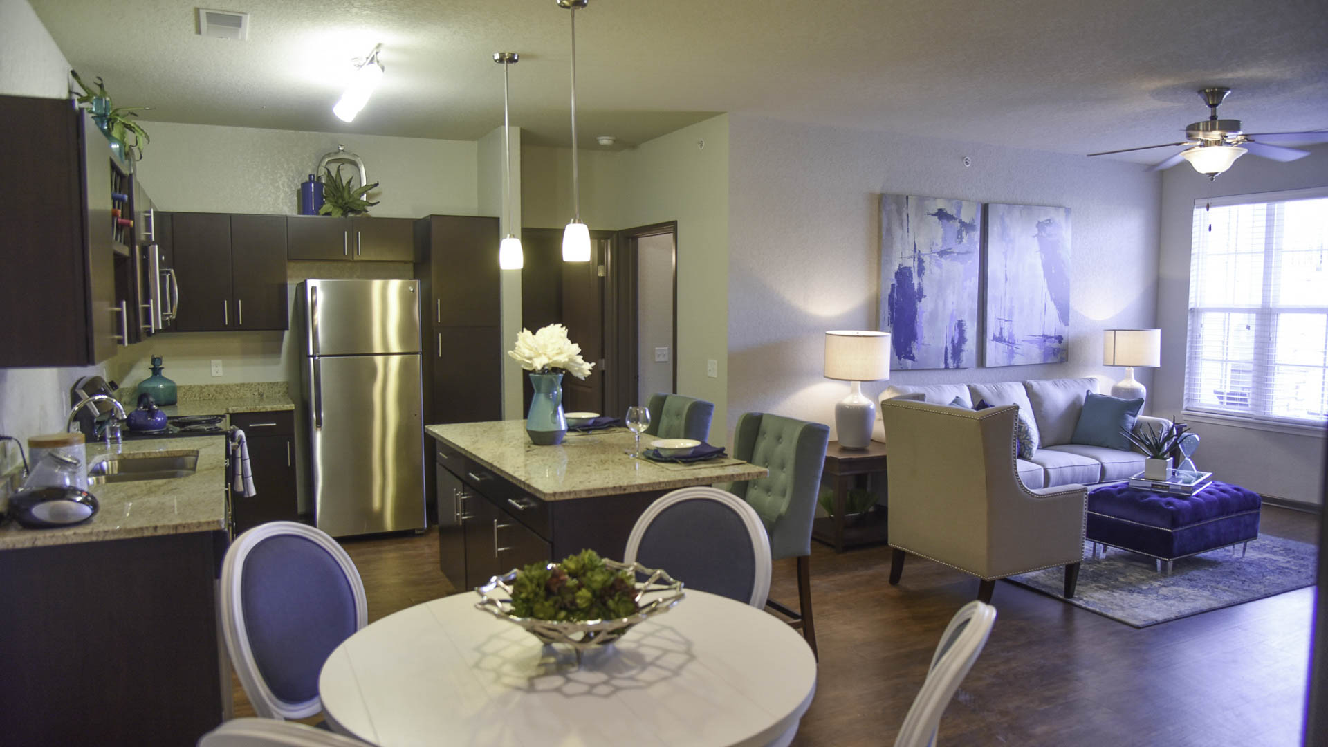 Springs at the Reserve open concept living space