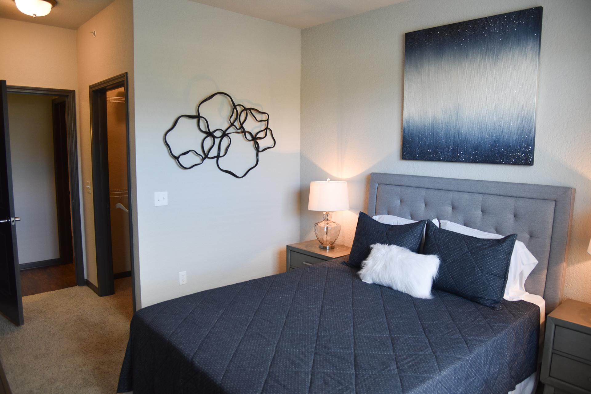 Springs at Knapp's Crossing bedroom with walk-in closet