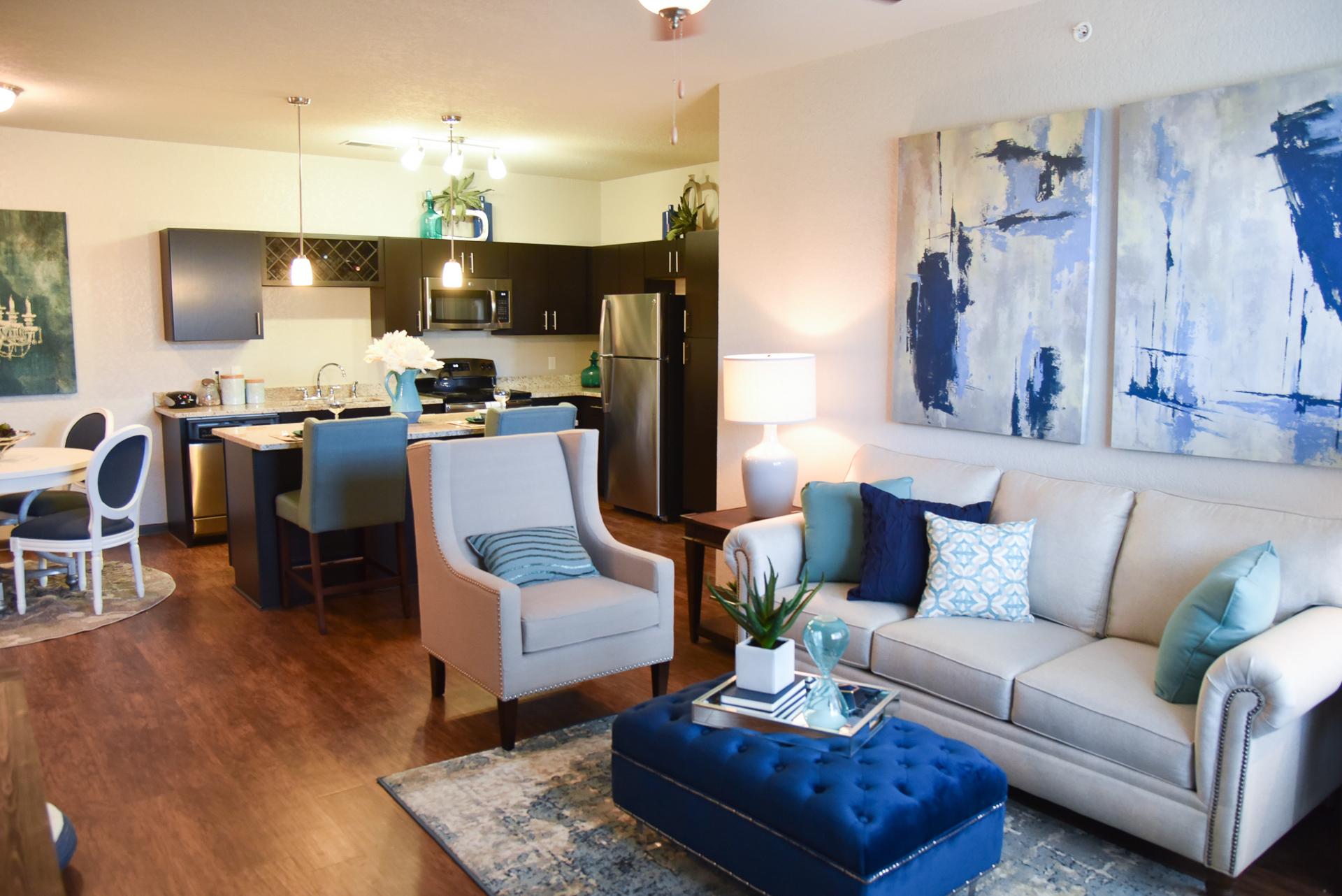 Springs at Knapp's Crossing living room open concept  floor plan
