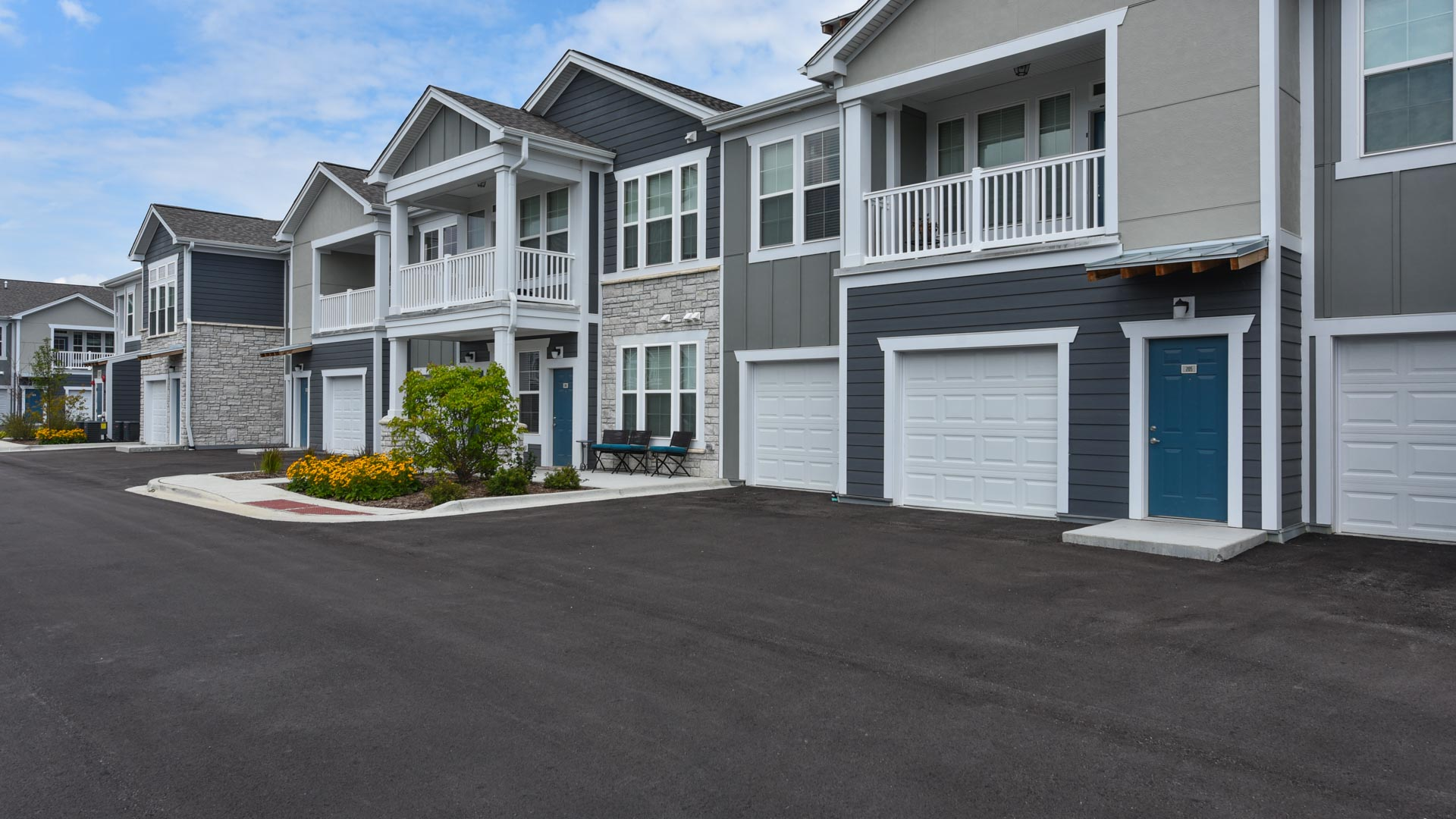Attached Garages and Private Entries at Springs at Orchard Road in North Aurora, IL-38