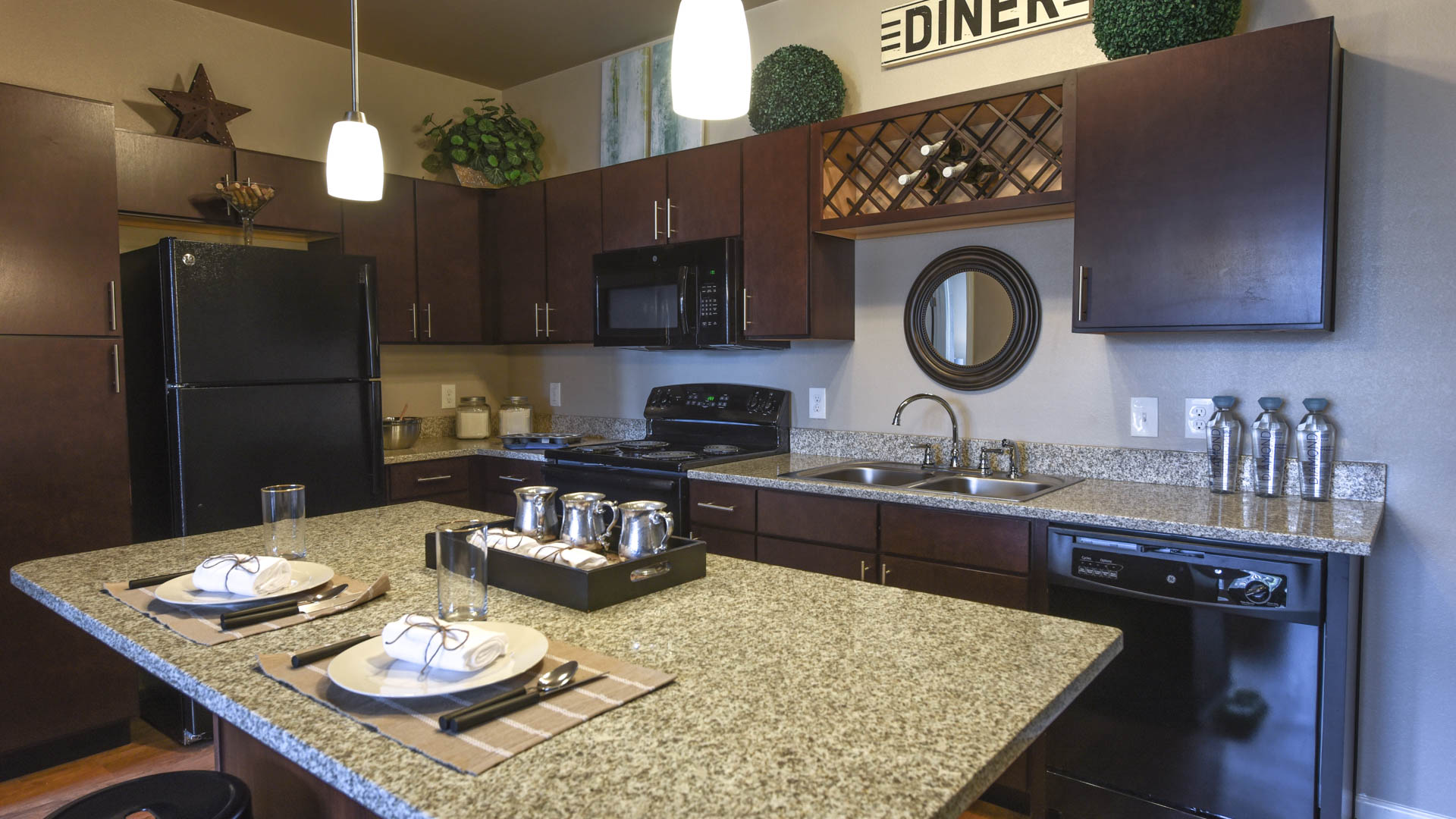 Gourmet Kitchen with Granite Counters at Springs at Orchard Road in North Aurora, IL-56