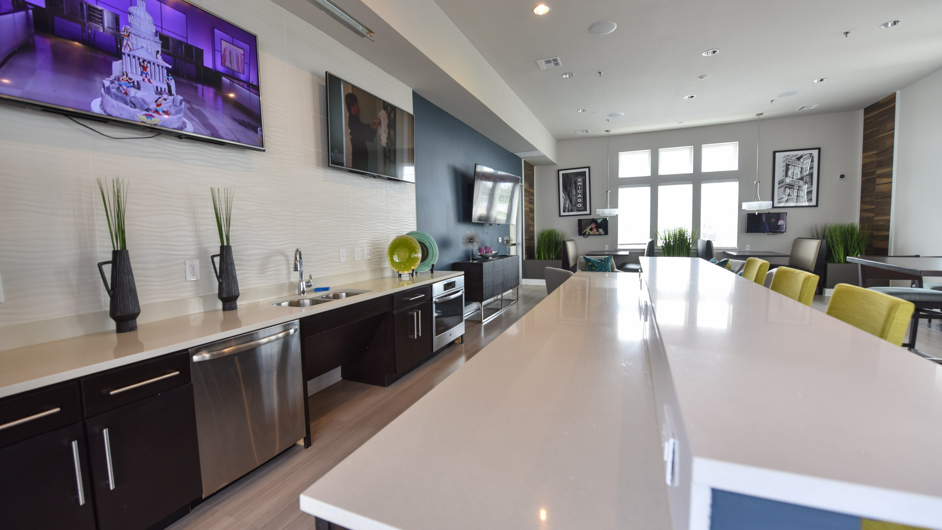 Modern Kitchenette at Springs at Orchard Road in North Aurora, IL-6