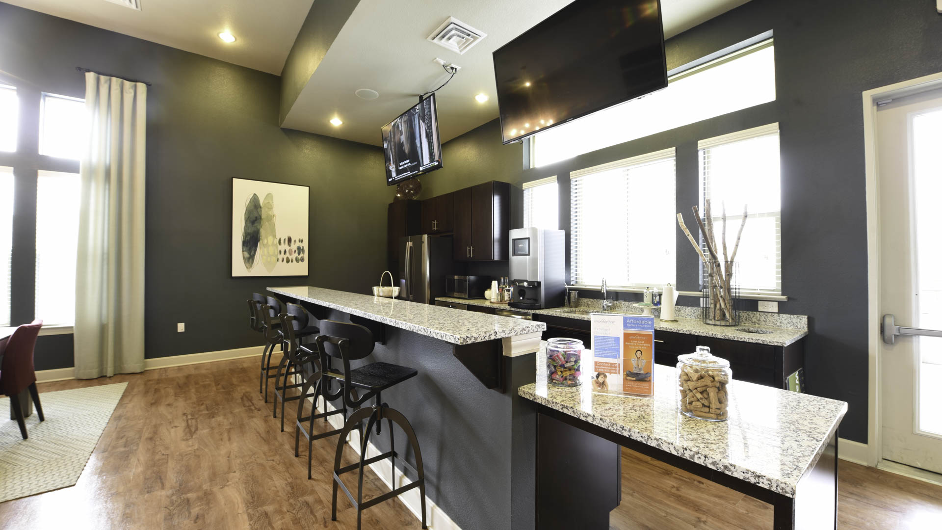 Springs at Sandstone Ranch clubhouse kitchen