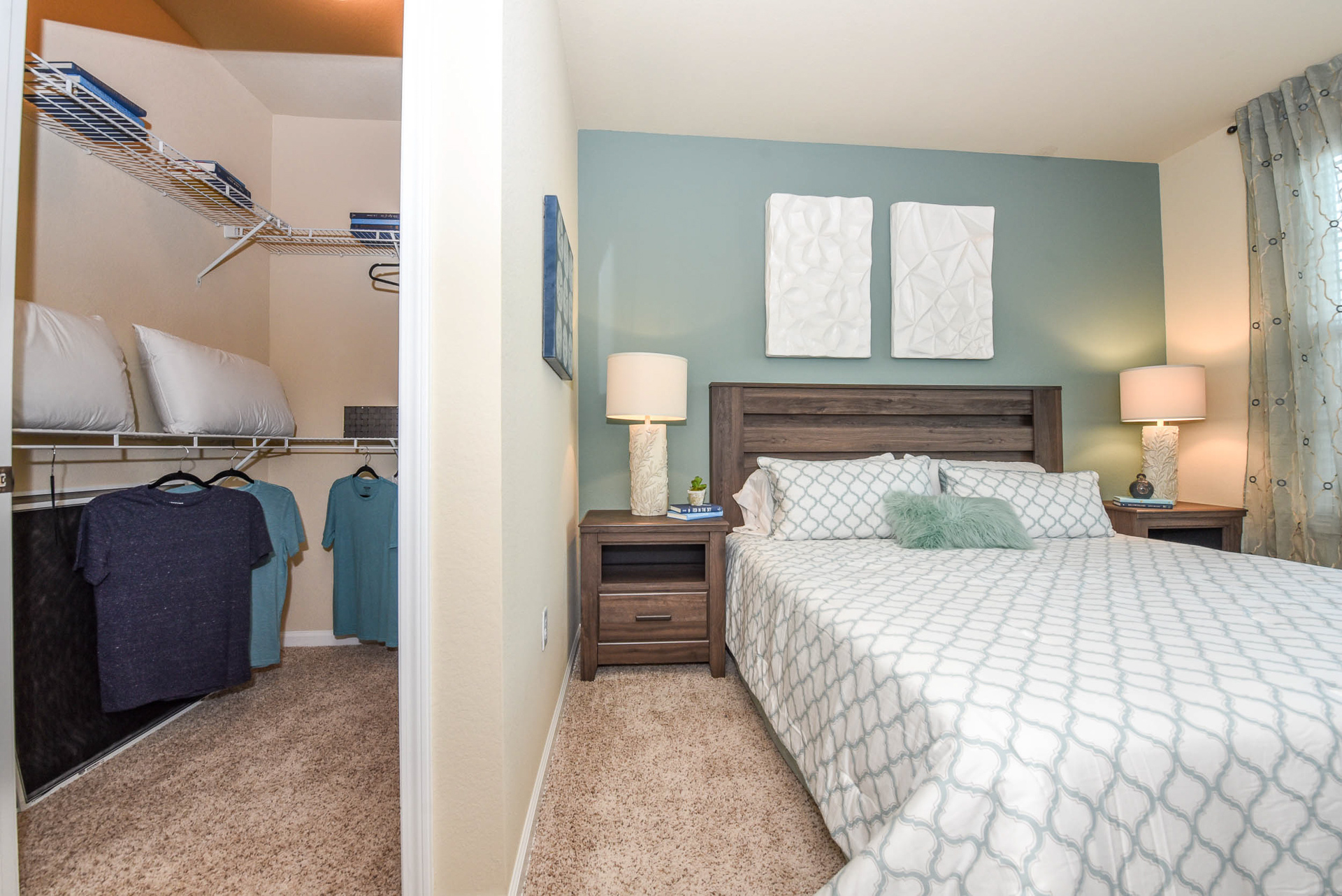 Springs at Six Mile Cypress master bedroom and walk in closet