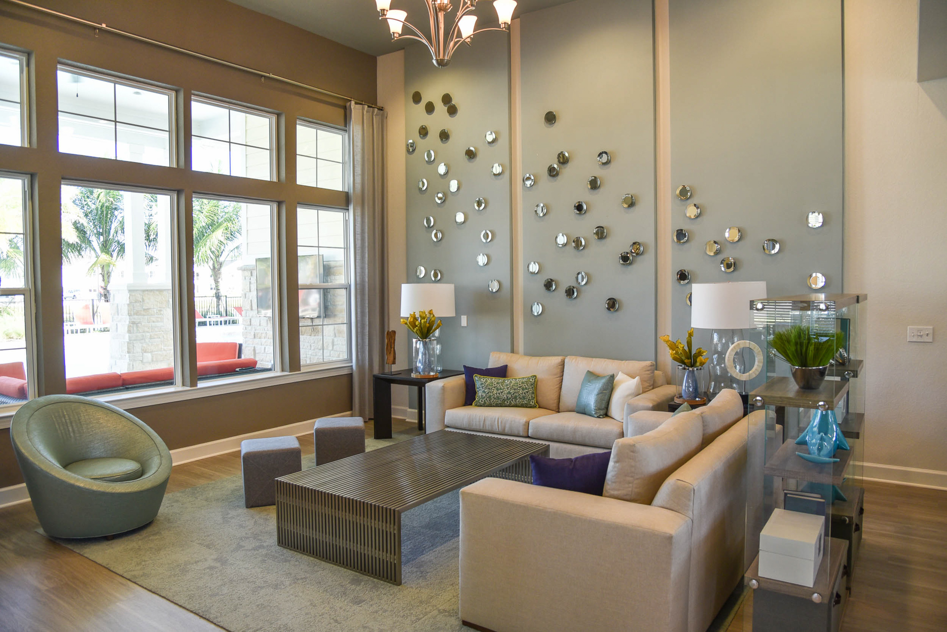 Springs at Six Mile Cypress clubhouse interior overview