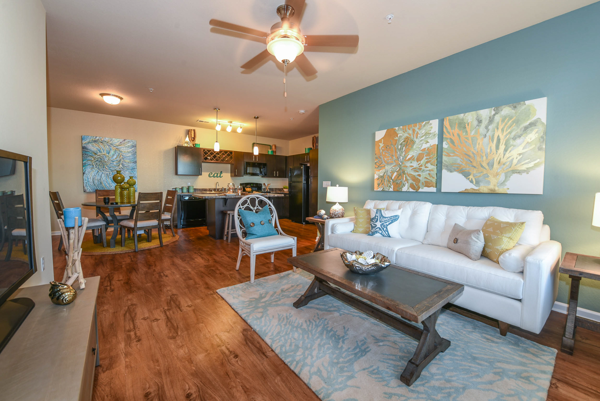 Springs at Six Mile Cypress open concept living room
