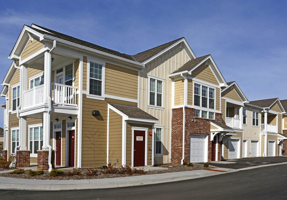Townhome Exterior with Private Entries