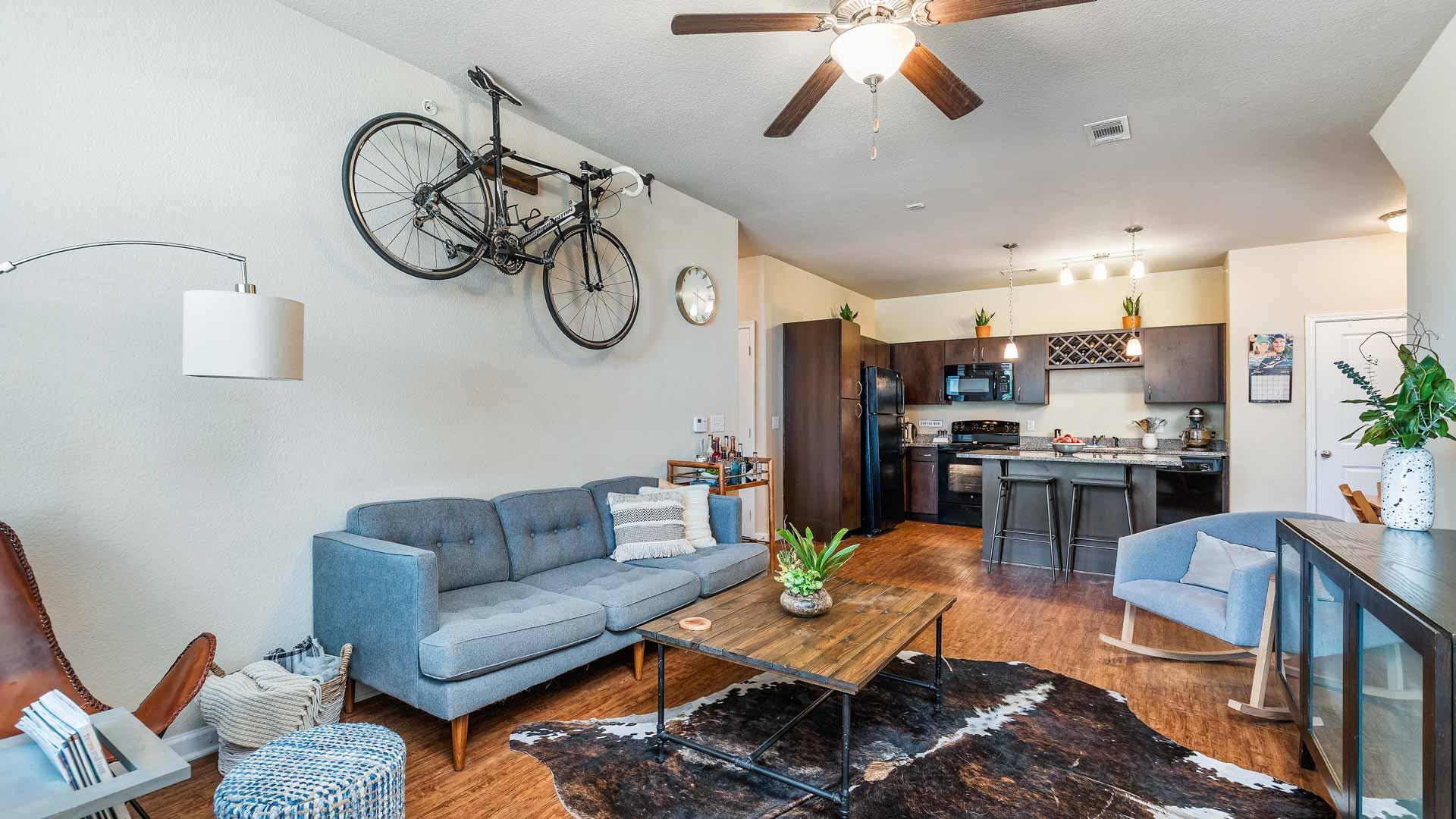 Apartment Living Room in San Antonio at Springs at Alamo Ranch