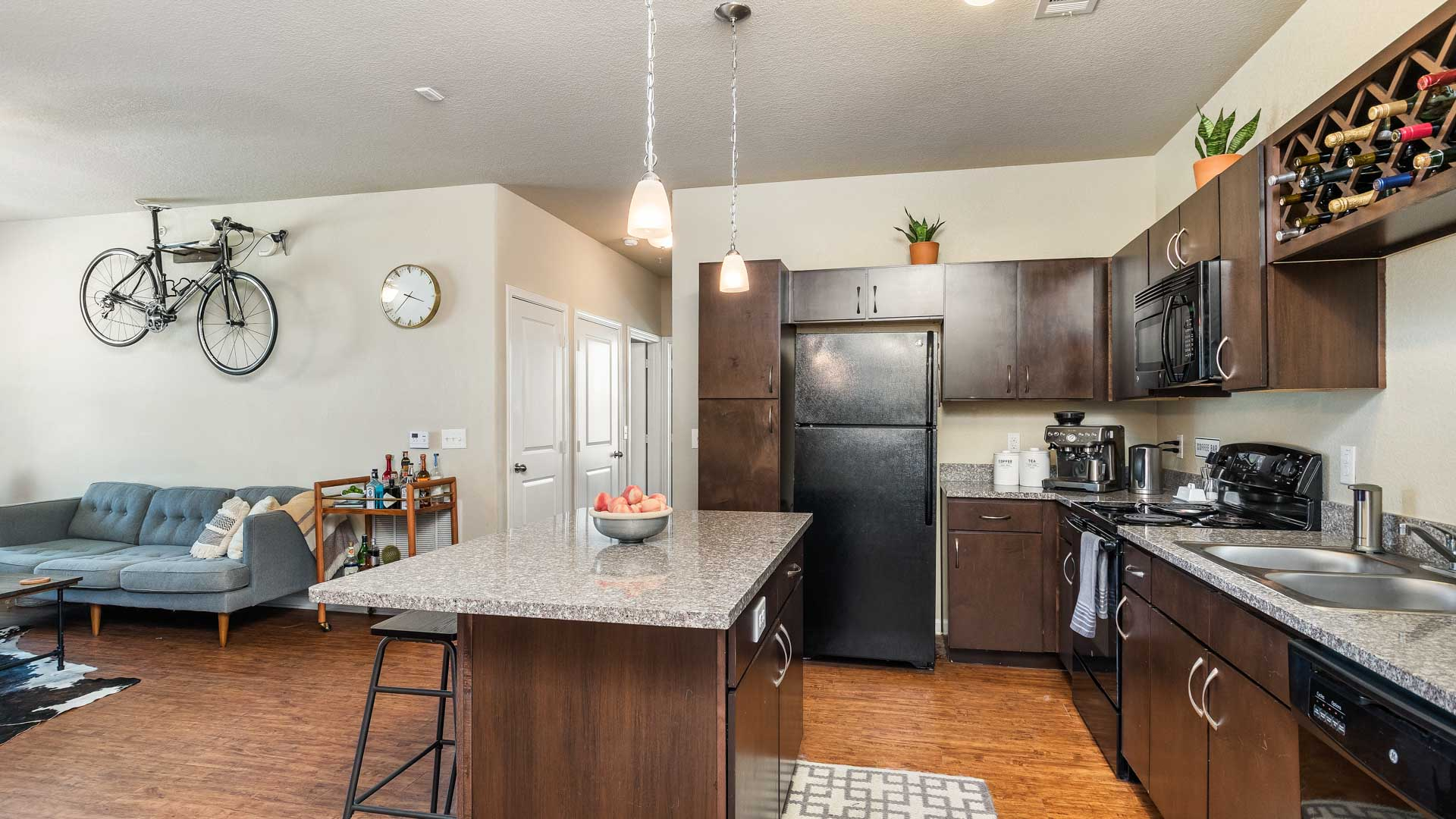 Kitchen with Island in San Antonio at Springs at Alamo Ranch