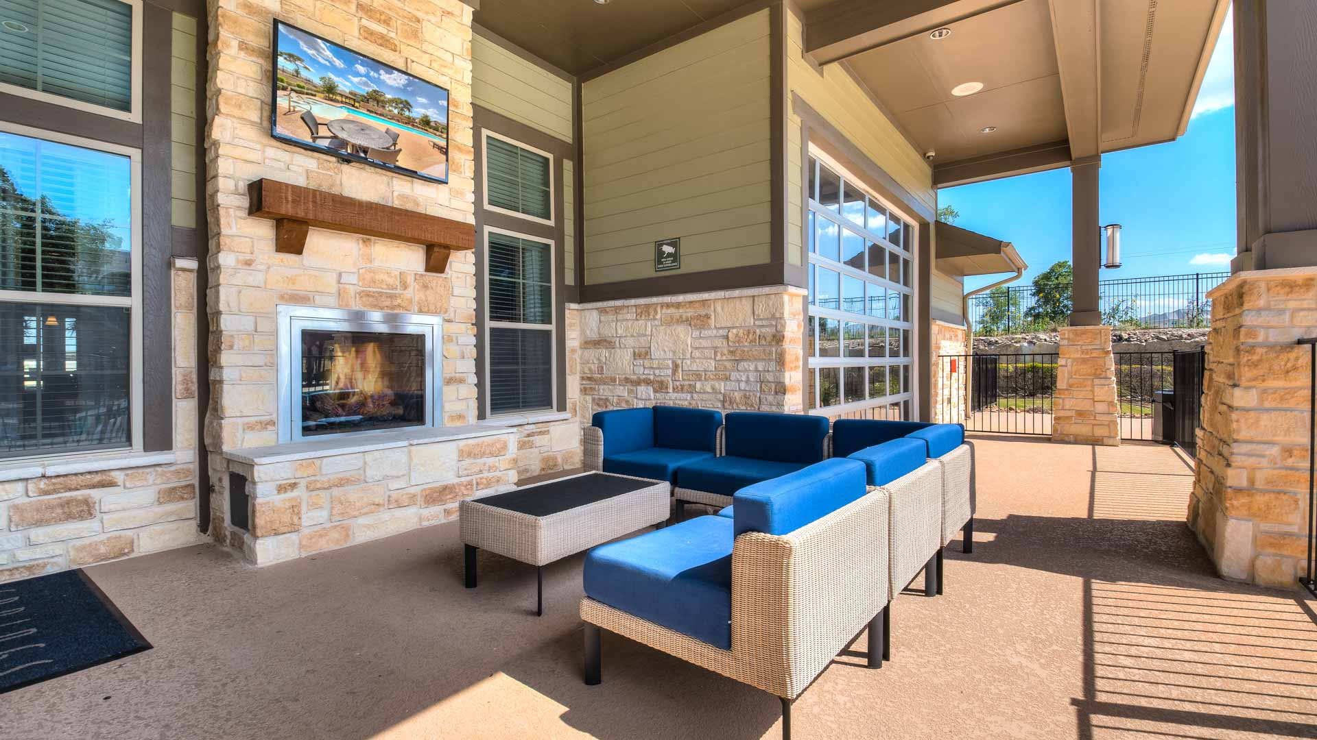 Fireplace and Outdoor Tv Lounge in San Antonio at Springs at Alamo Ranch
