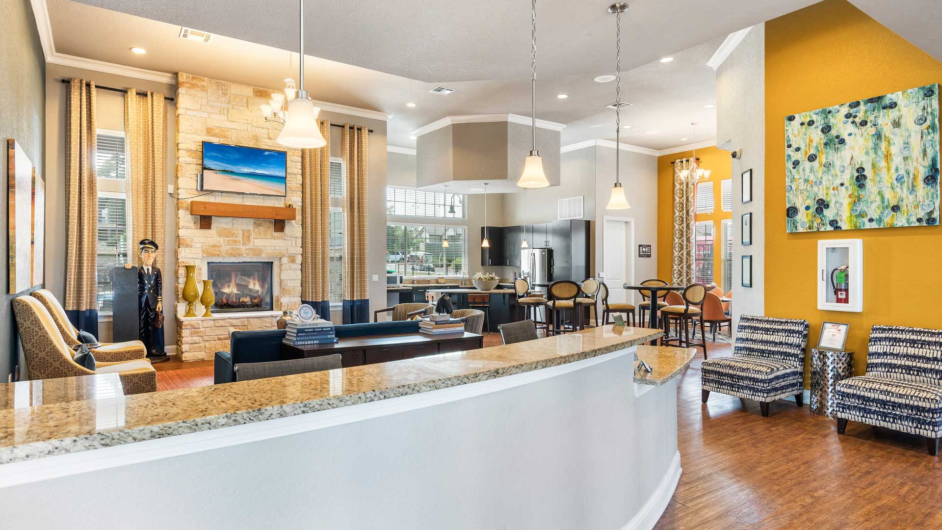 Aloha Leasing Desk in Clubhouse in San Antonio at Springs at Alamo Ranch