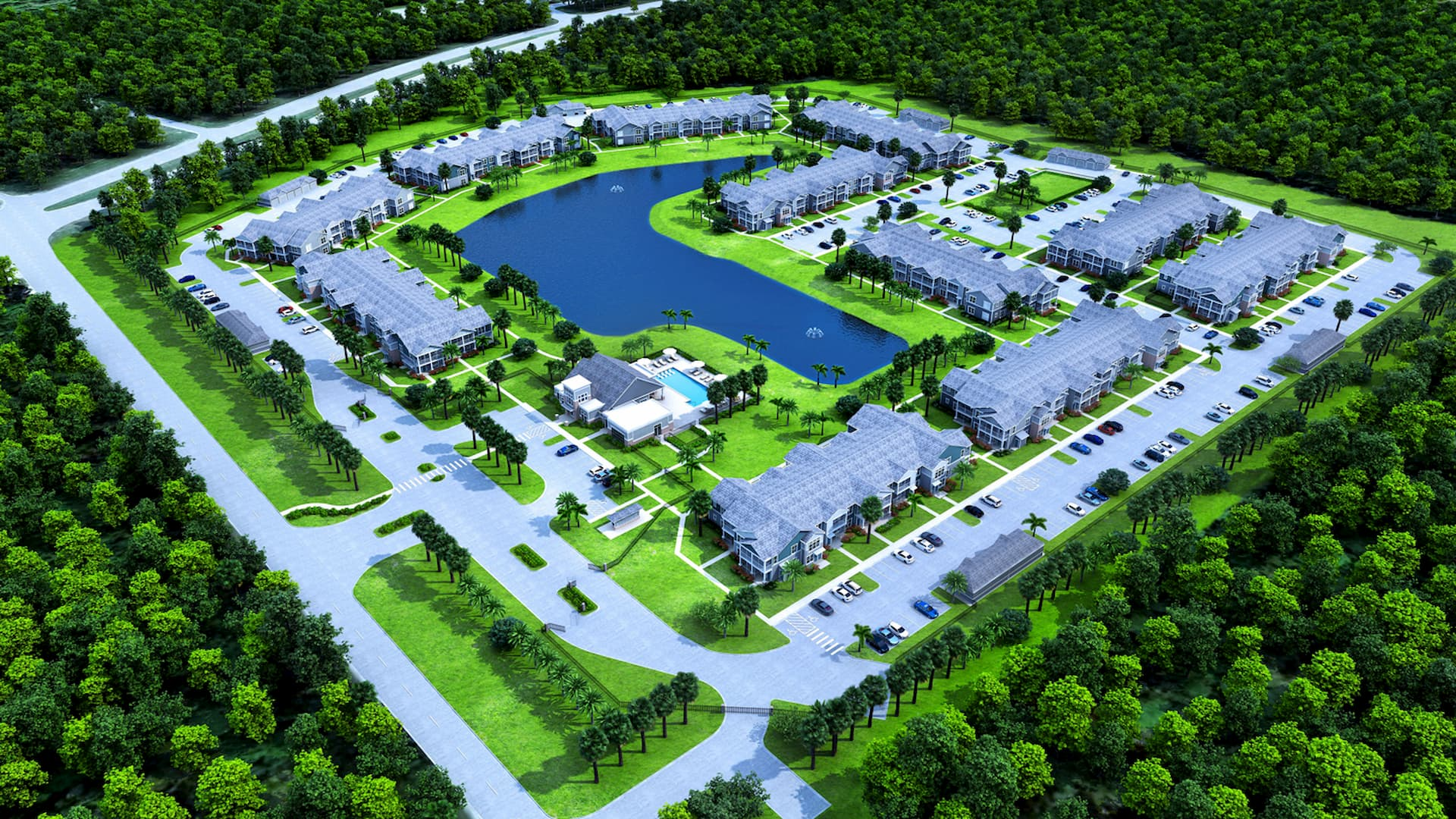 Springs at Cape Coral Arial sitemap