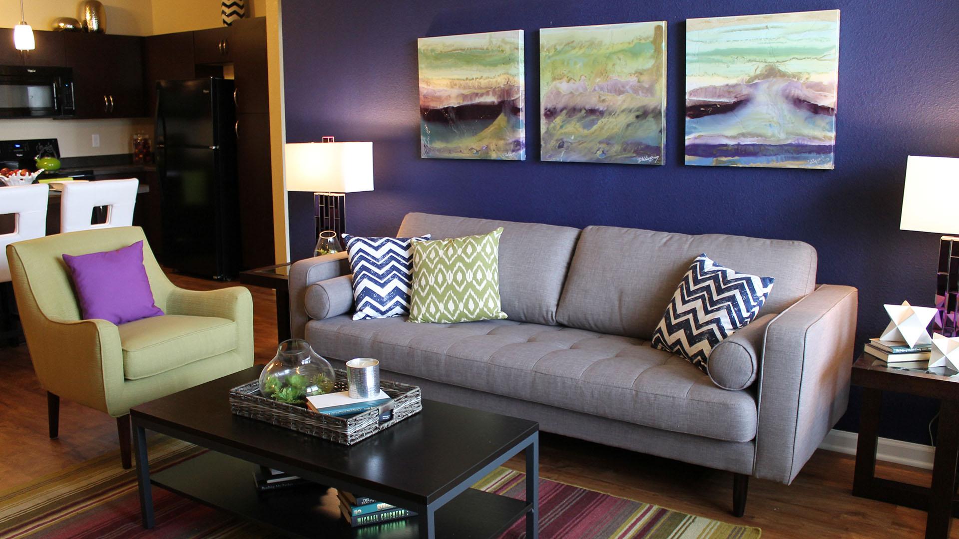 Living Room in Savage MN at Springs at Egan Drive
