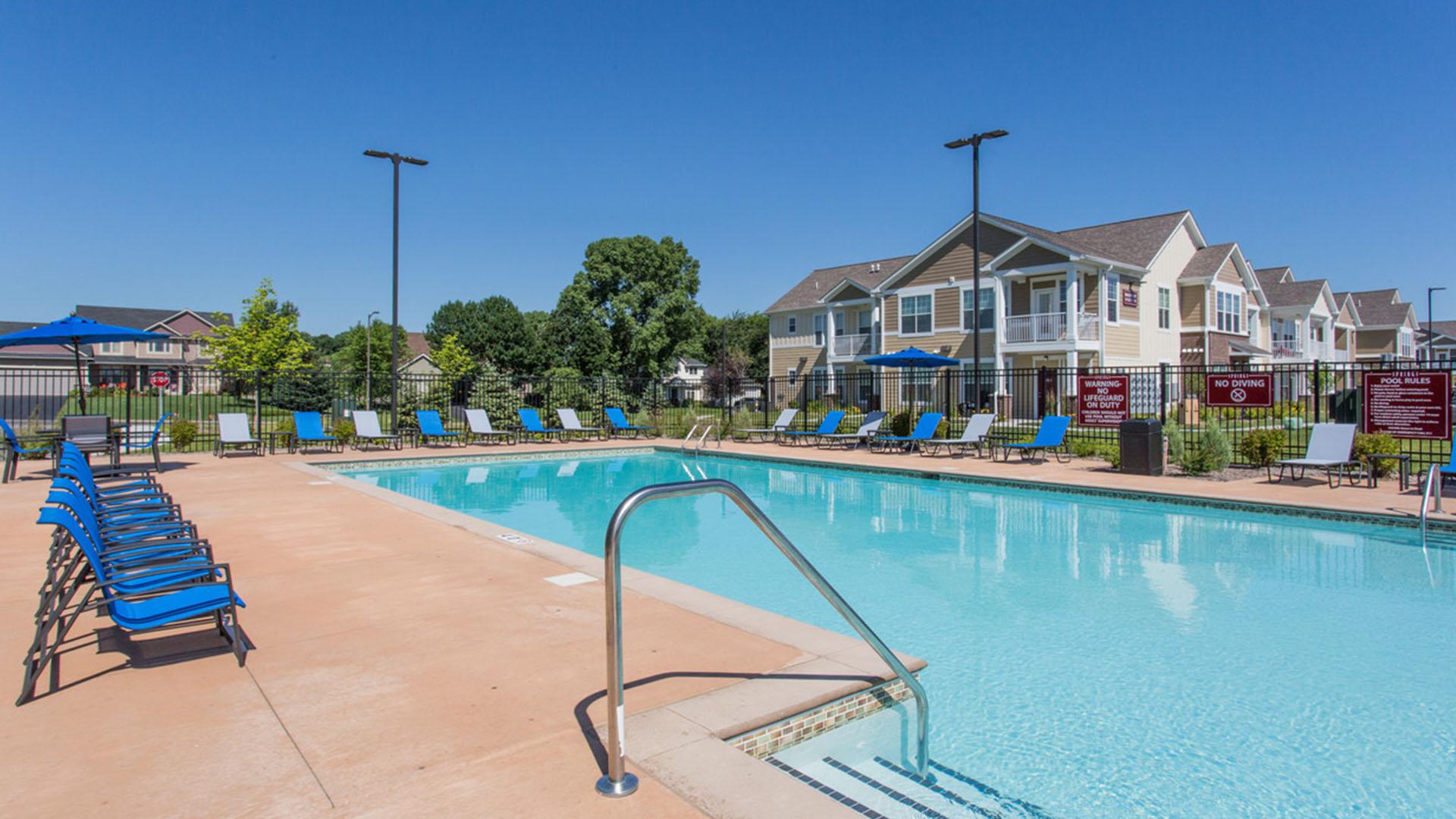 Resort Style Pool in Savage MN at Springs at Egan Drive
