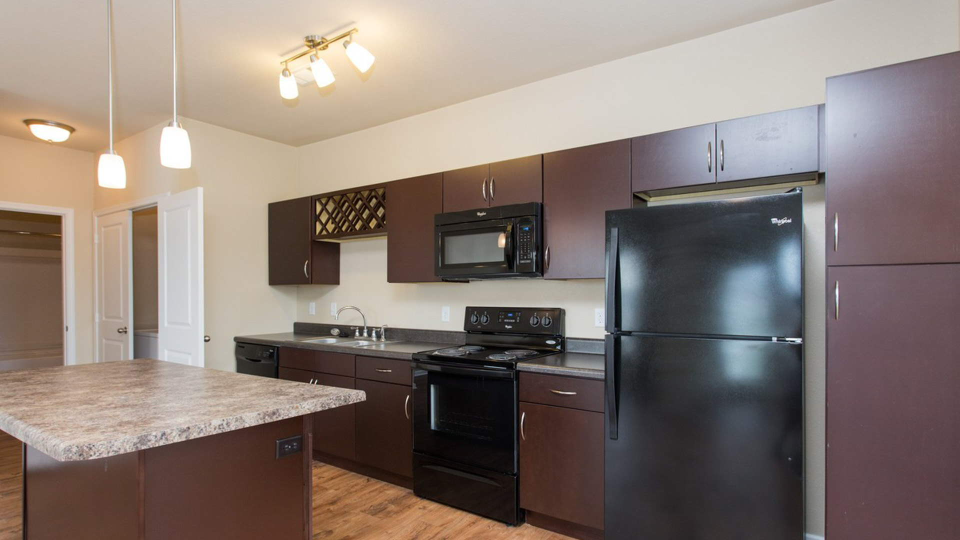 Kitchen in Savage MN at Springs at Egan Drive Apartments-7