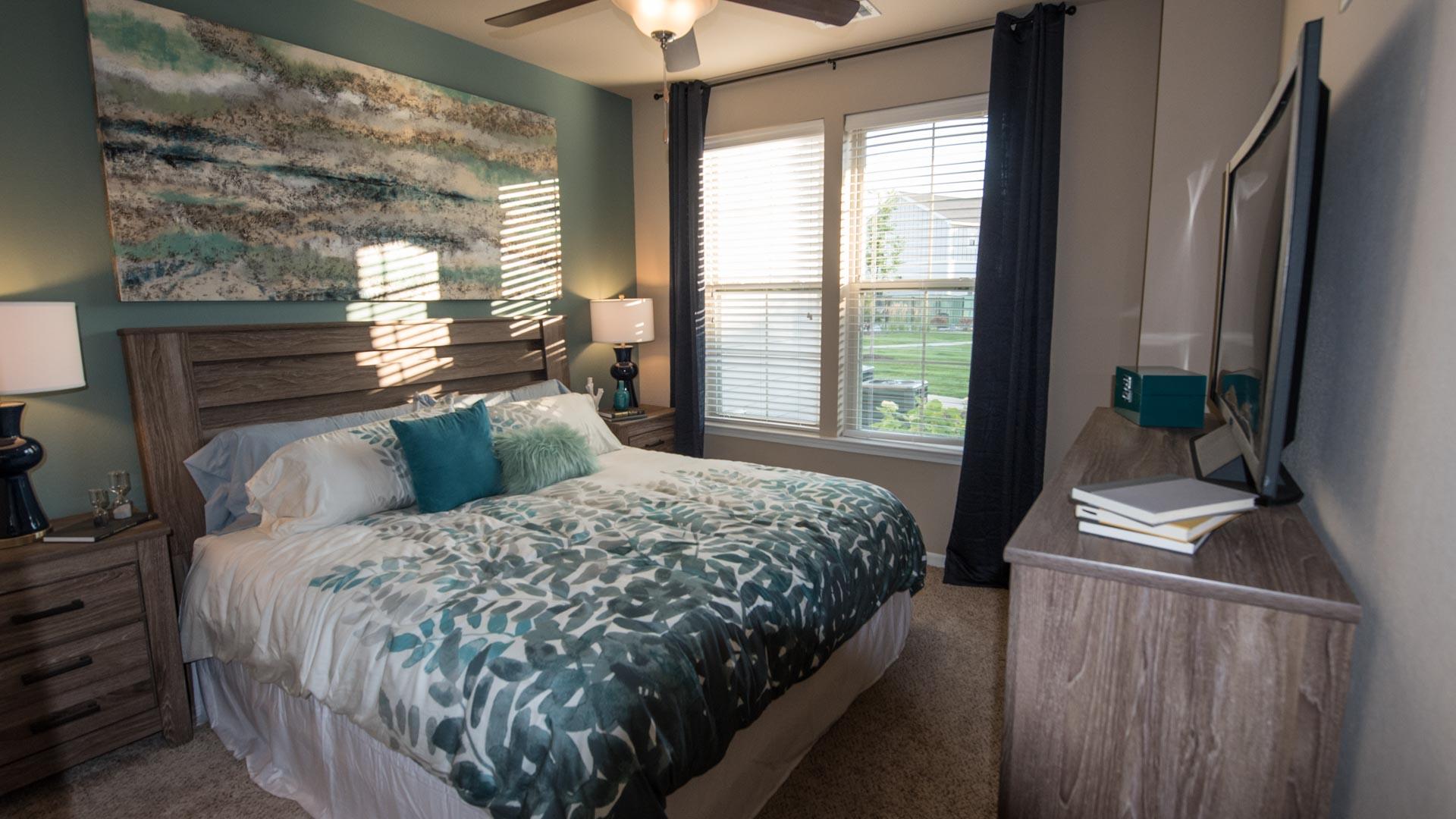 Master bedroom suite Springs at Kenosha apartments in Kenosha WI