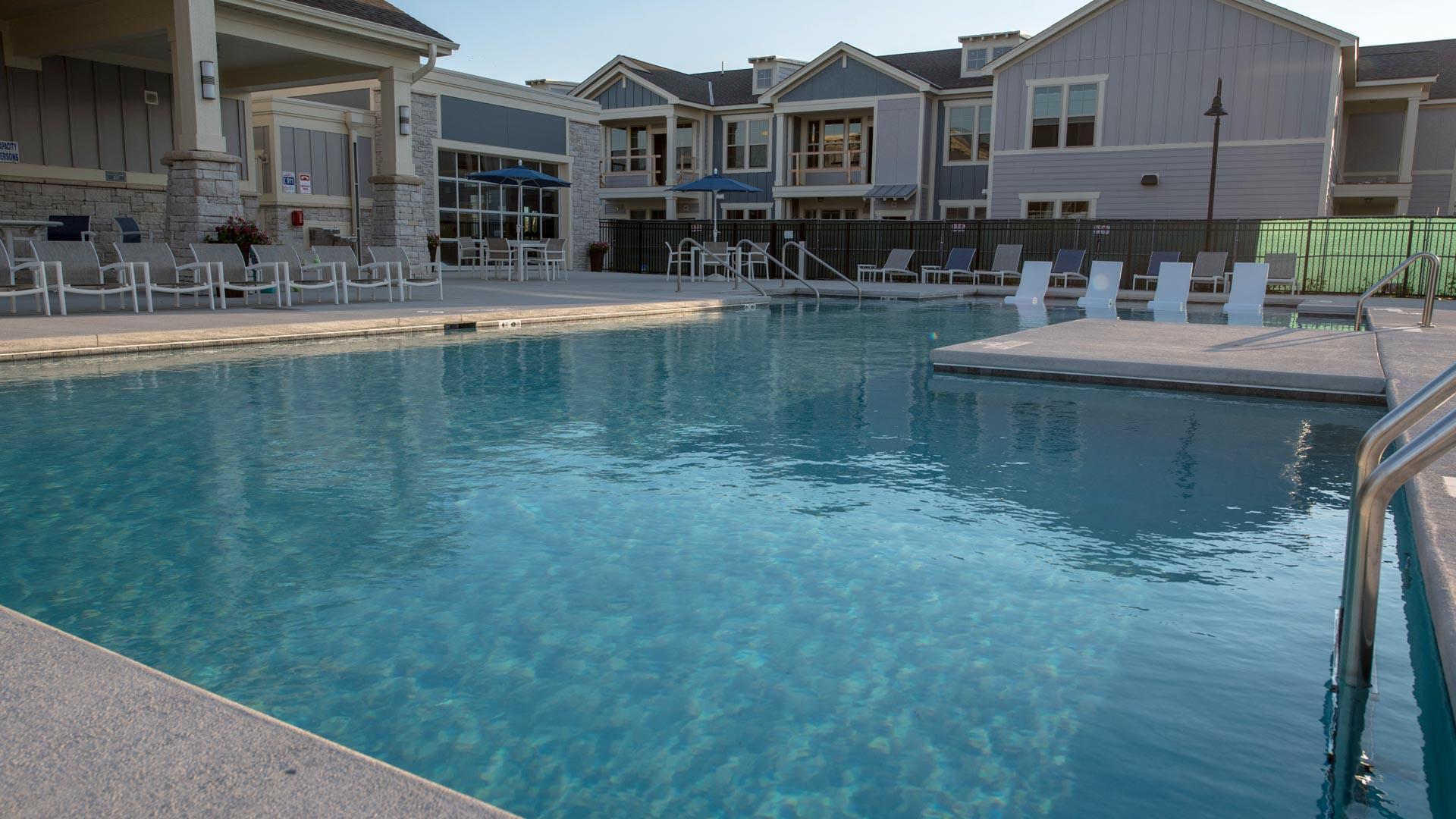 Huge luxury pool at Springs at Kenosha apartments in Kenosha WI-52