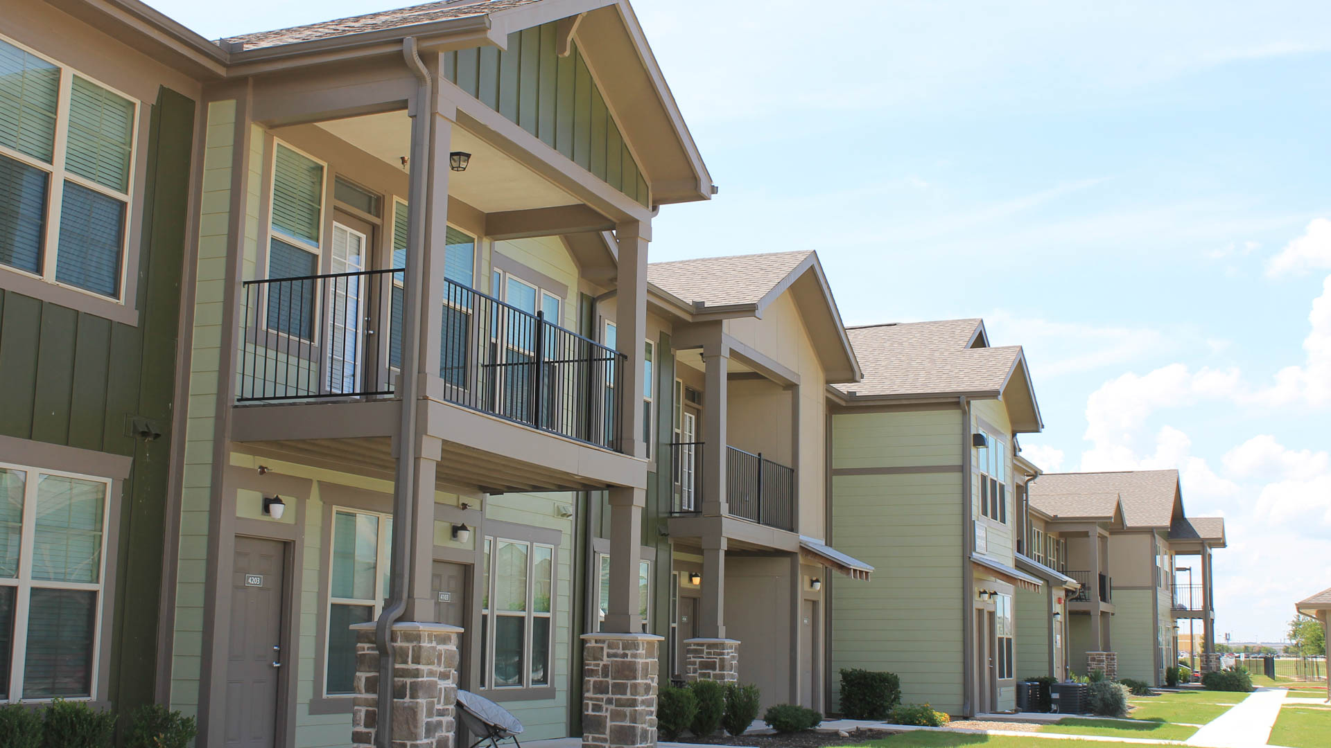 Townhome Exterior at Springs at Creekside in New Braunfels