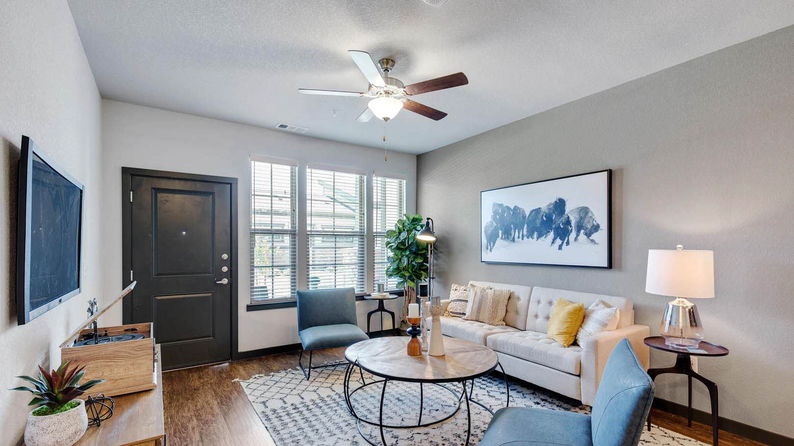 Comfy Living Room at Springs at Round Rock in Austin Texas
