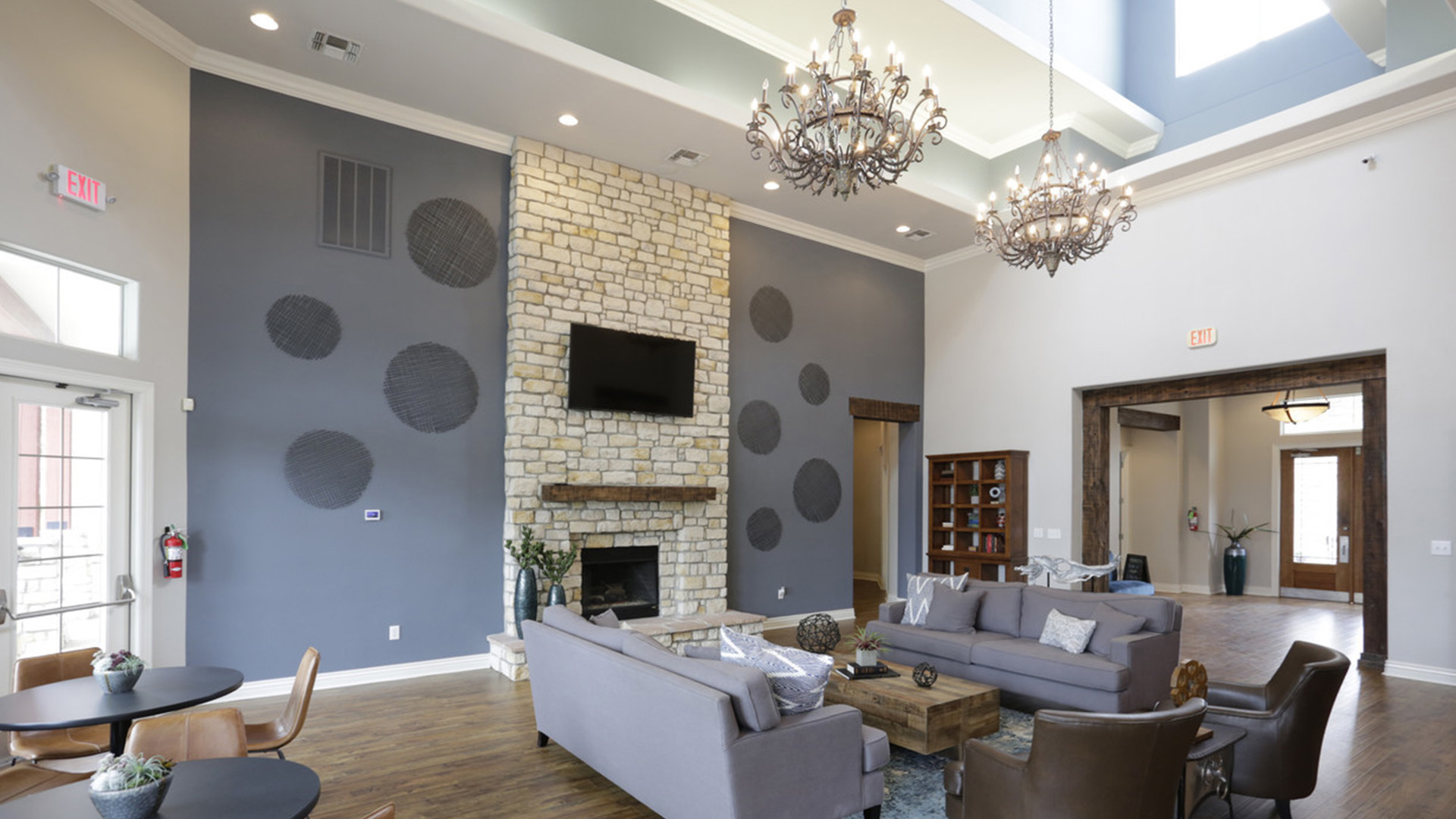 Community Clubhouse Lounge at Springs at Live Oak in Live Oak, TX