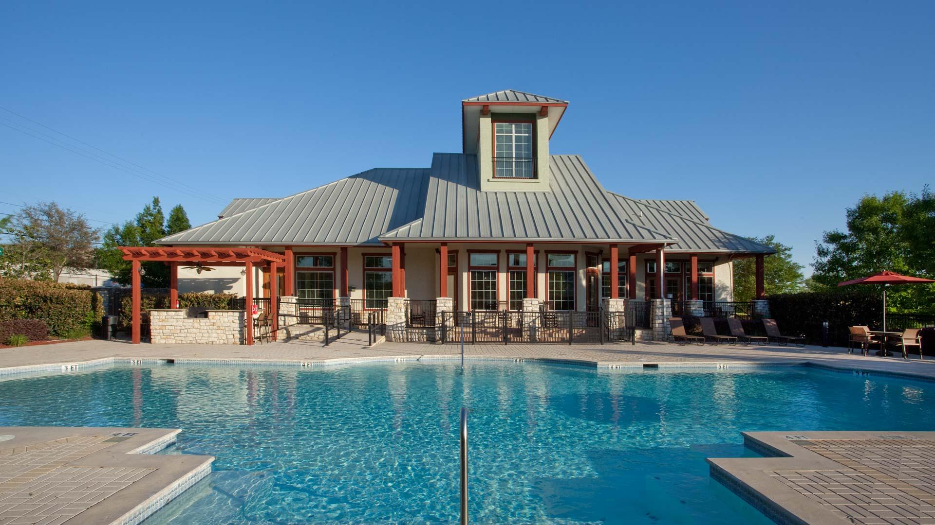 Pool view at springs at live oak