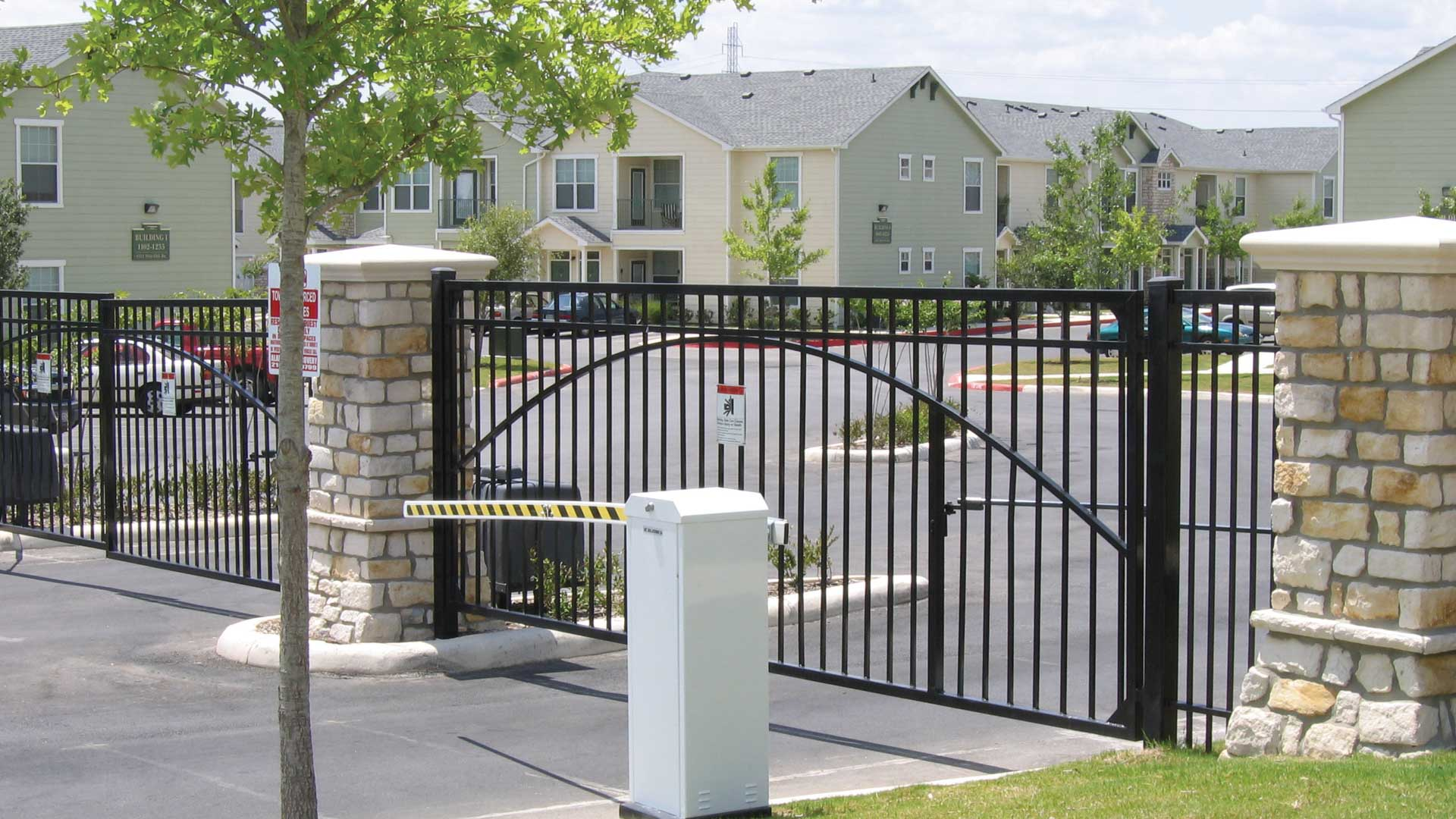 Gated Entry at Springs at Live Oak in Live Oak, TX