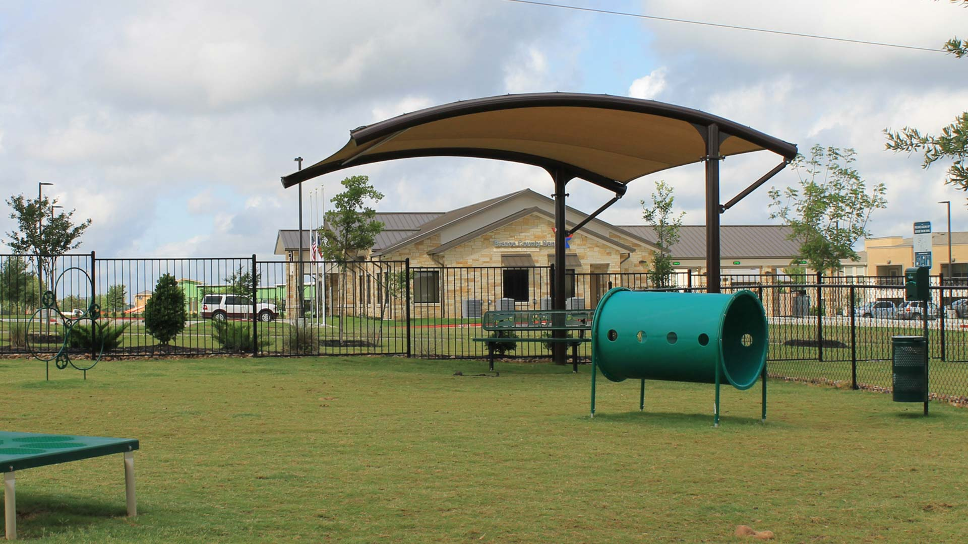 Large Dog Park at Springs at University Drive Apartments in Bryan, Texas