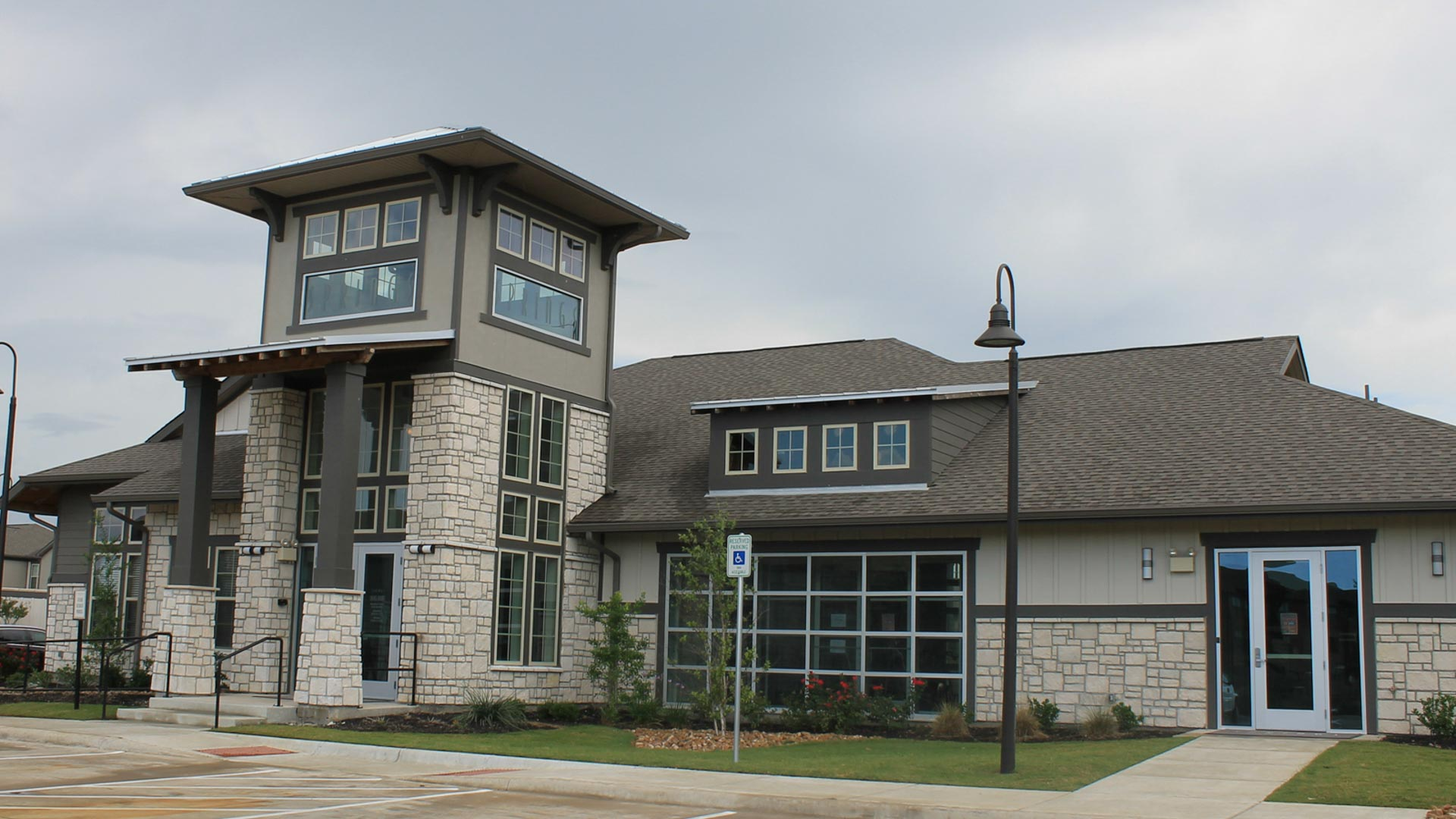Community Clubhouse at Springs at University Drive Apartments in Bryan, Texas