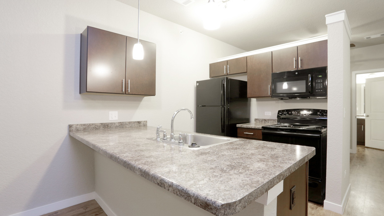 Studio Kitchen in Romeoville, IL at Springs at Weber Road-47