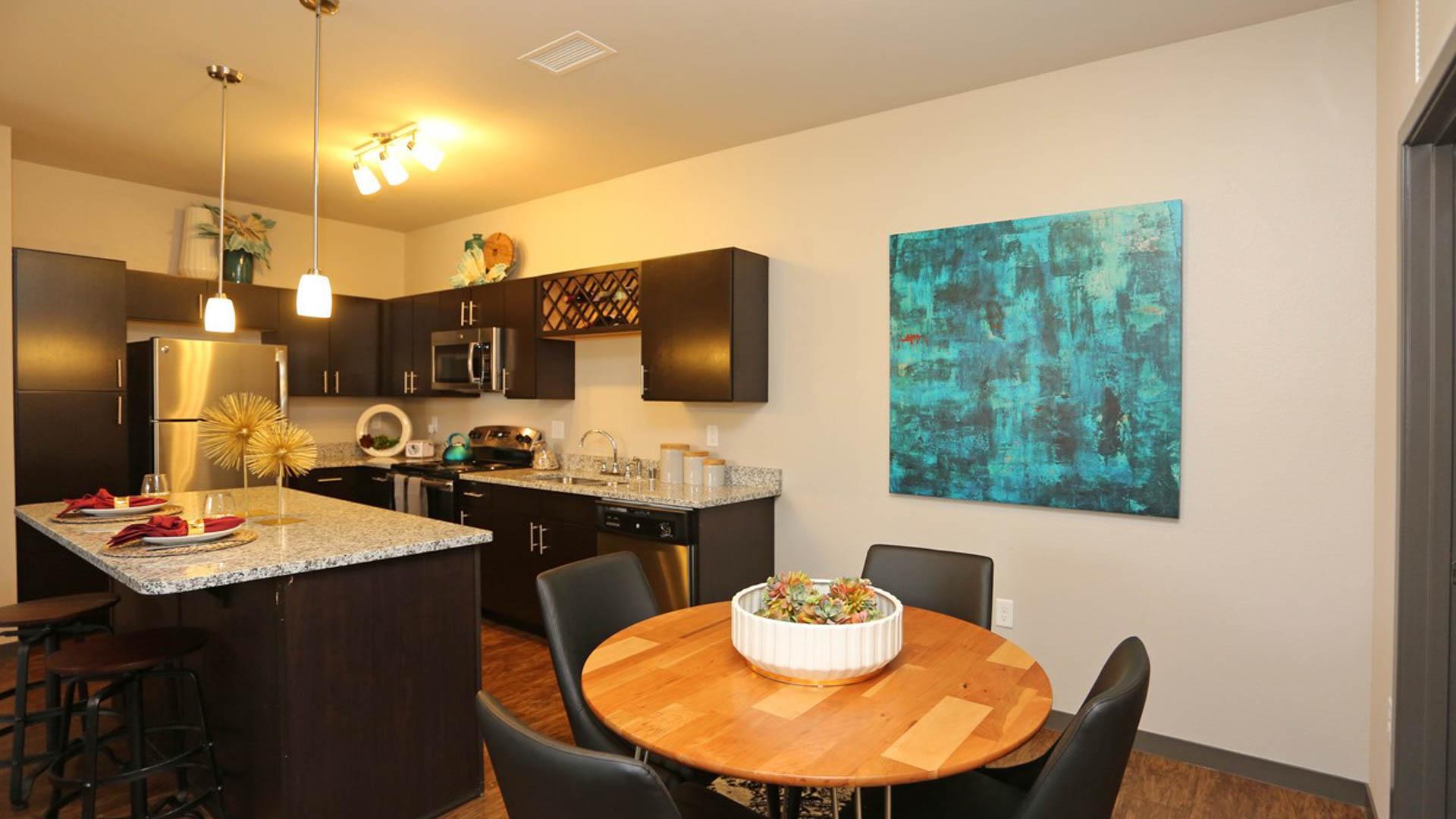 Apartment Kitchen at Springs at Sun Prairie Apartments in Sun Prairie