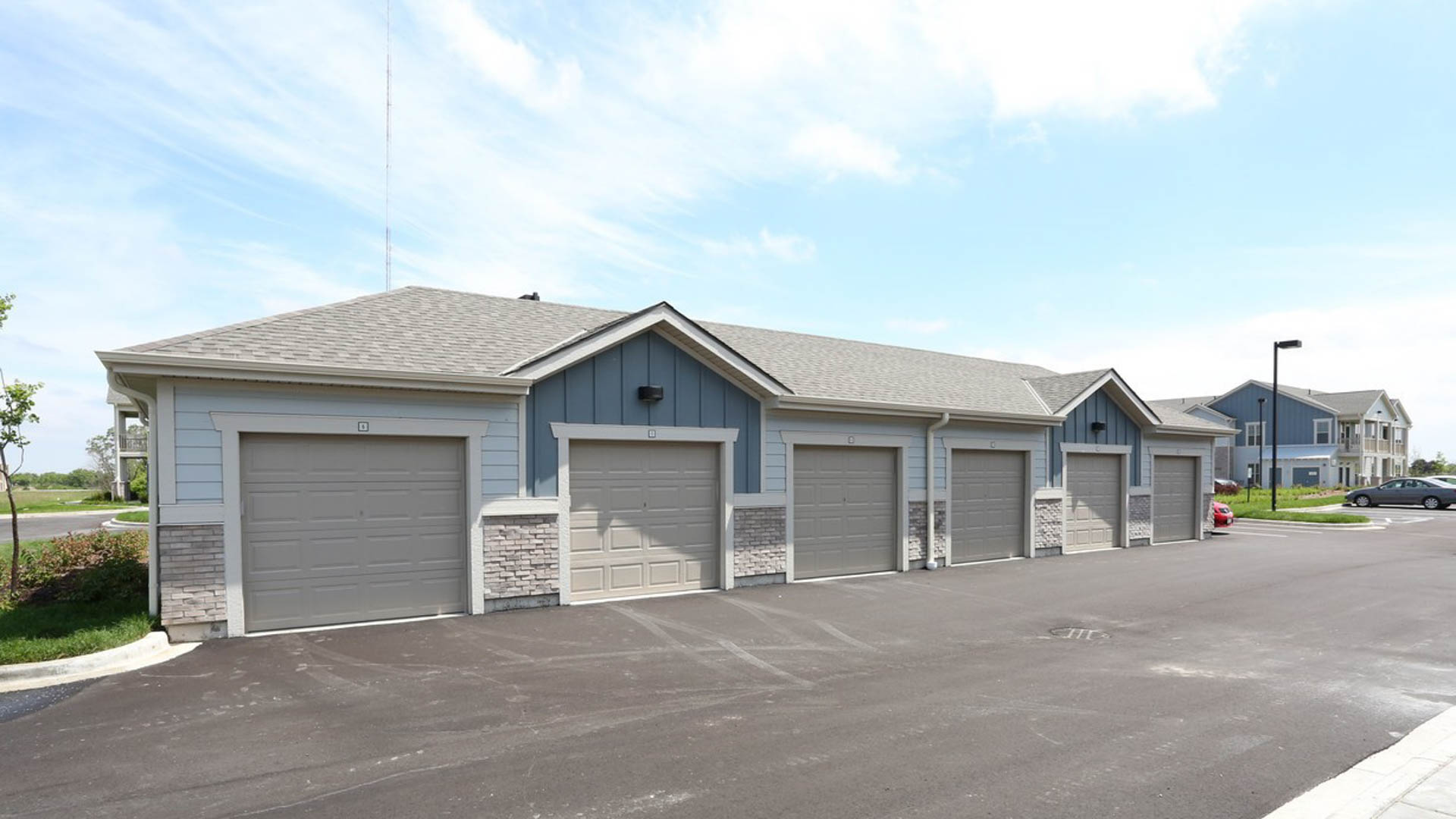 Detached Garages at Springs at Sun Prairie Apartments in Sun Prairie