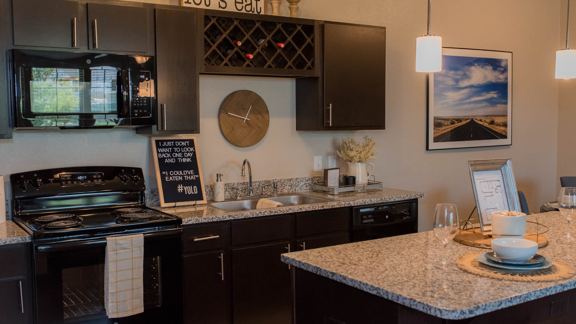 Granite Kitchen Countertops Springs at Sunfield Apartments In Buda TX