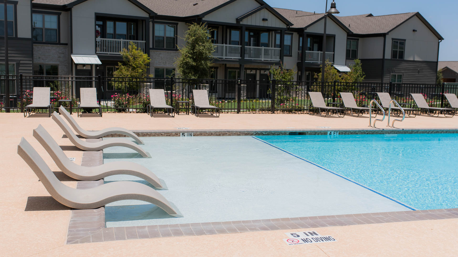 Pool at Springs at Sunfiled Apartments In Buda