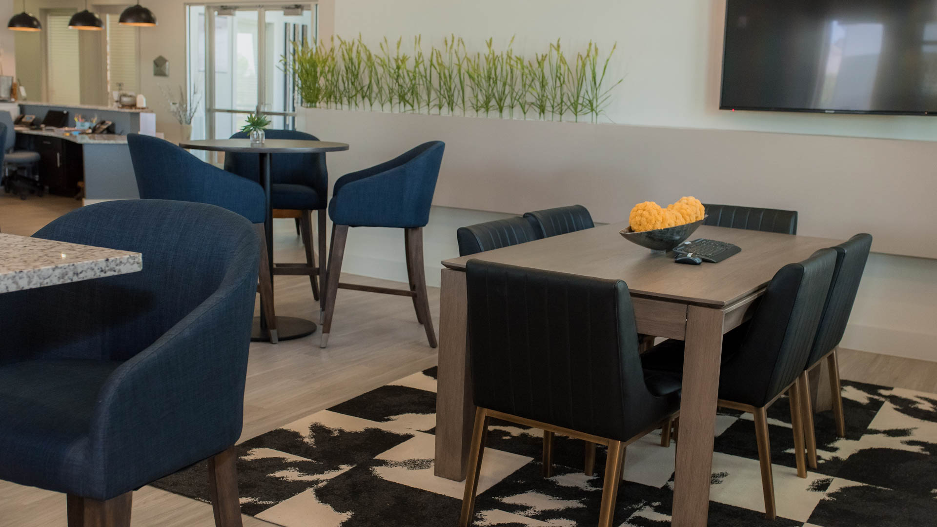 Clubhouse Seating at Springs at Sunfiled Apartments In Buda TX-70