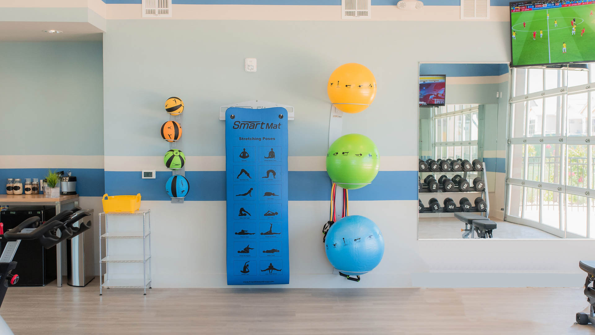 Gym at Springs at Sunfield Apartments In Buda TX