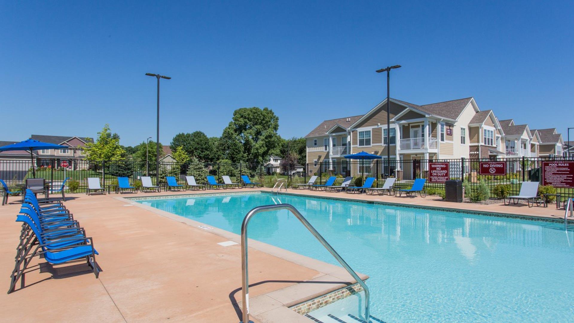 Resort Style Pool in Savage MN at Springs at Egan Drive Apartments-3